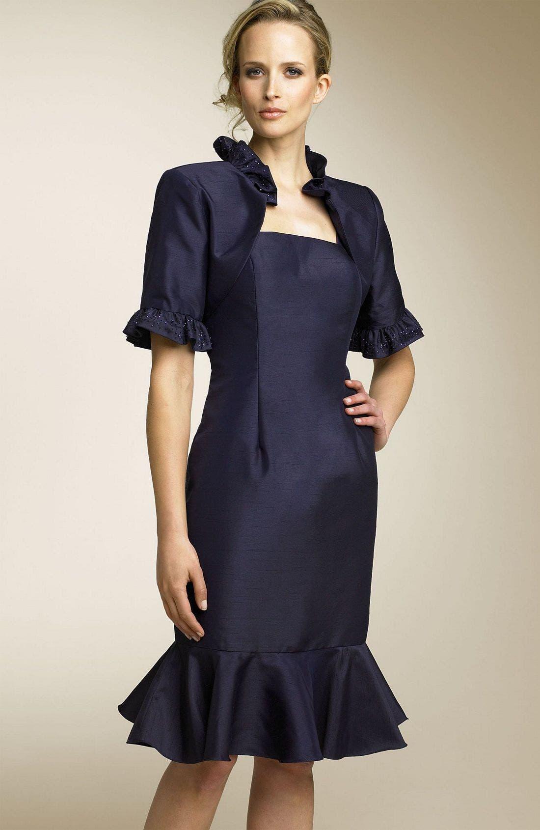 Main Image - Sean Collection Ruffle Dress & Jacket