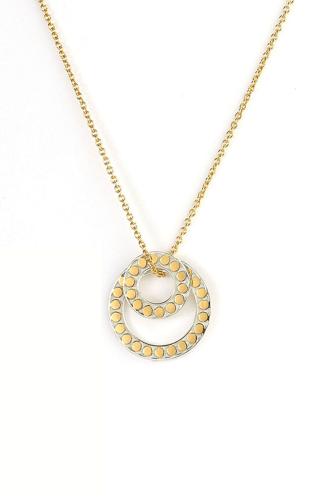 Alternate Image 1 Selected - Anna Beck 'Floating O' Double Circle Necklace