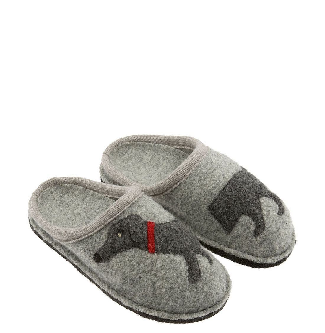'Doggy' Slipper,                             Main thumbnail 1, color,                             Grey