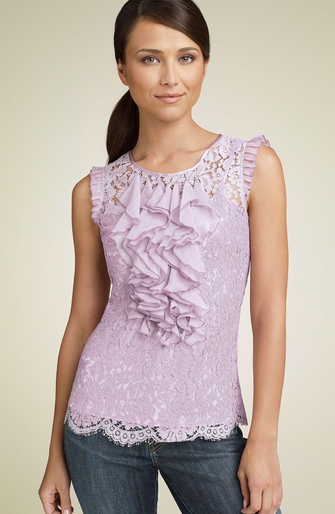 Main Image - ECI Ruffle Lace Top