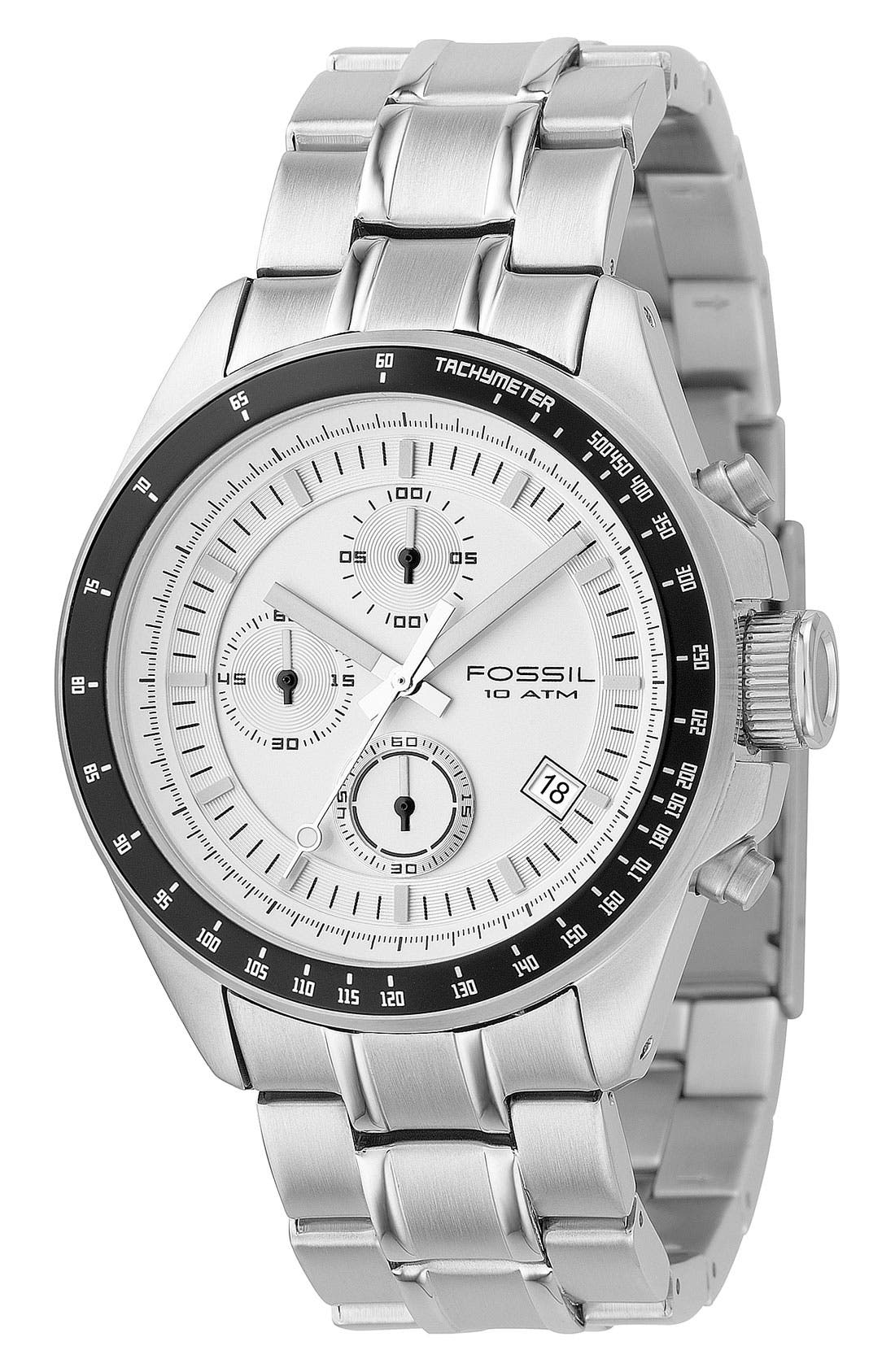 Alternate Image 1 Selected - Fossil Chronograph Tachymeter Watch, 44mm