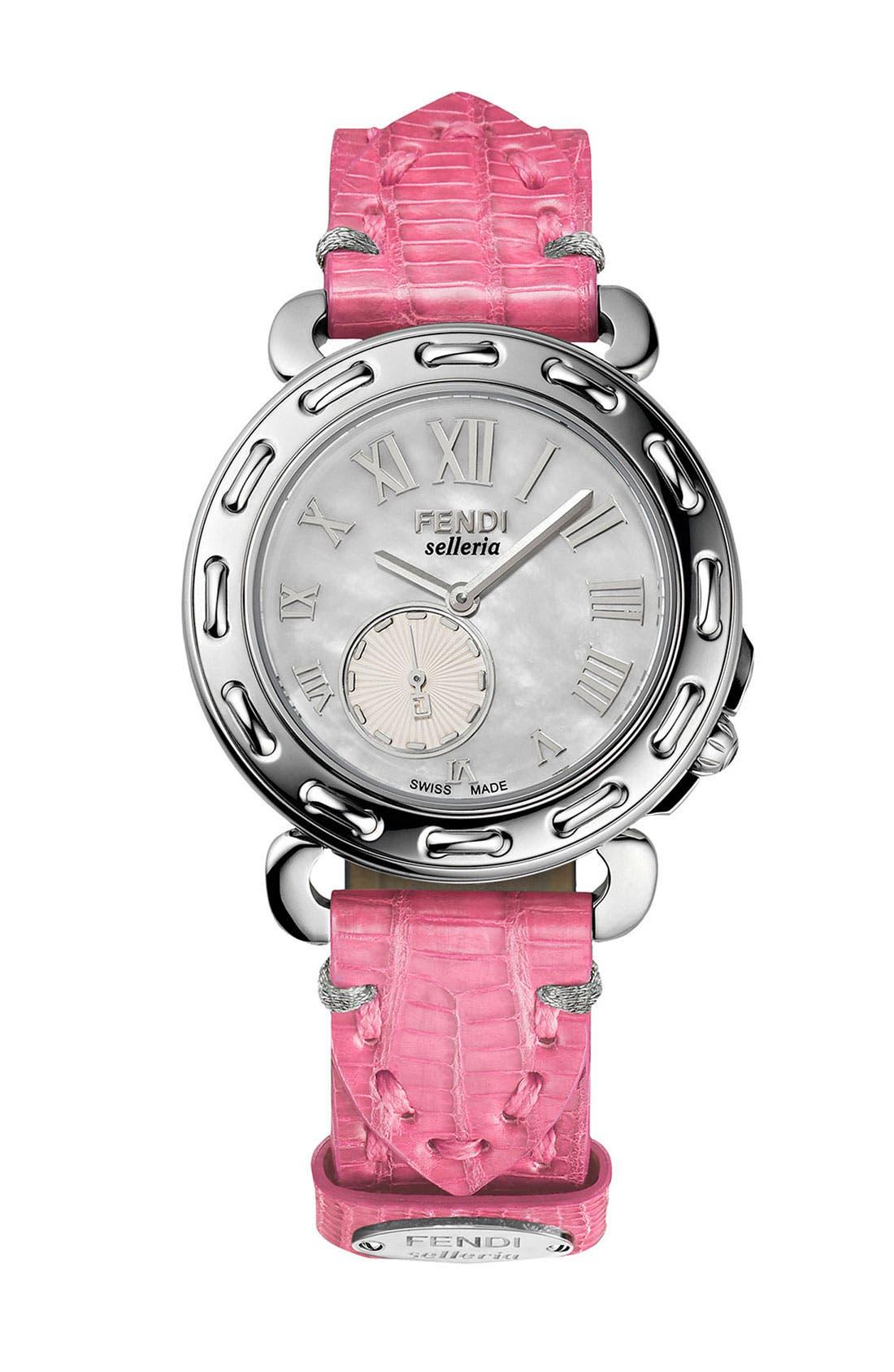 Alternate Image 1 Selected - Fendi 'Selleria' Customizable Watch