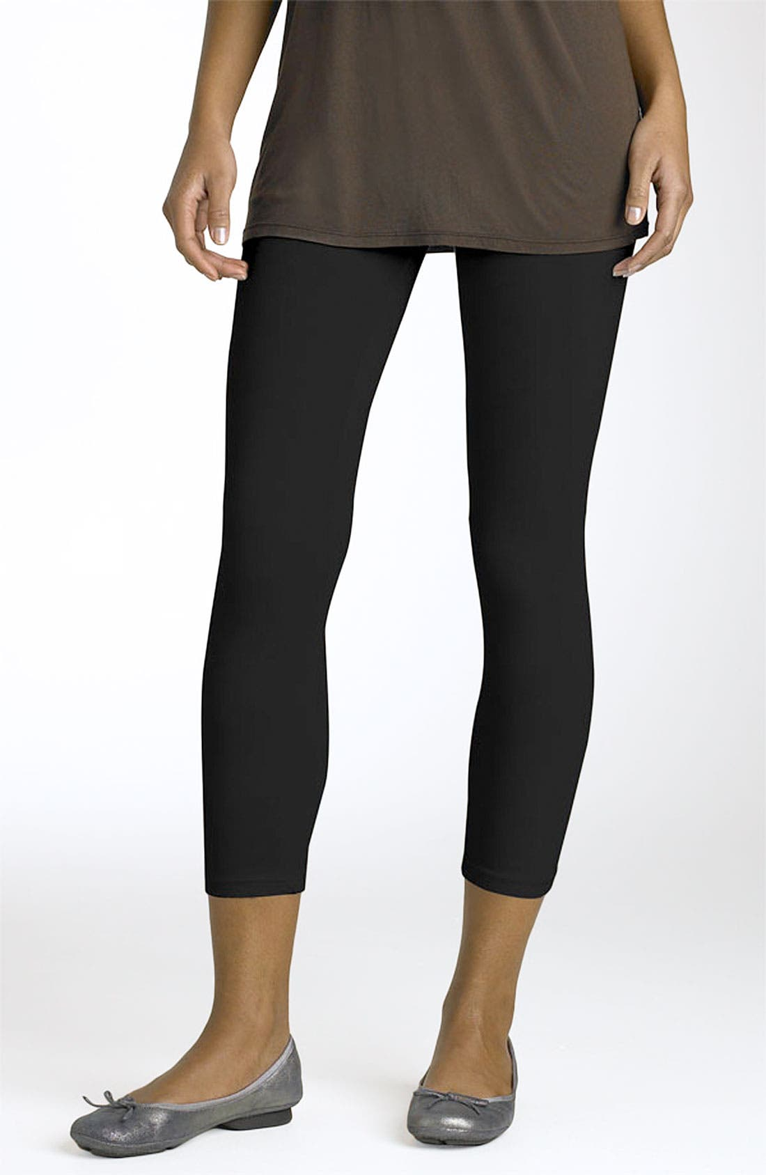 Alternate Image 1 Selected - Splendid Crop Stretch Knit Leggings