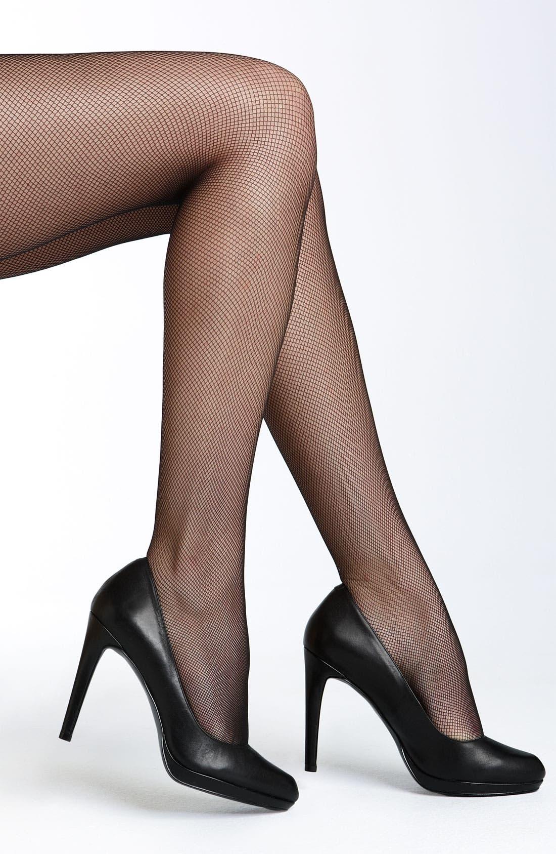 Alternate Image 1 Selected - Donna Karan 'Micro Tulle' Tights