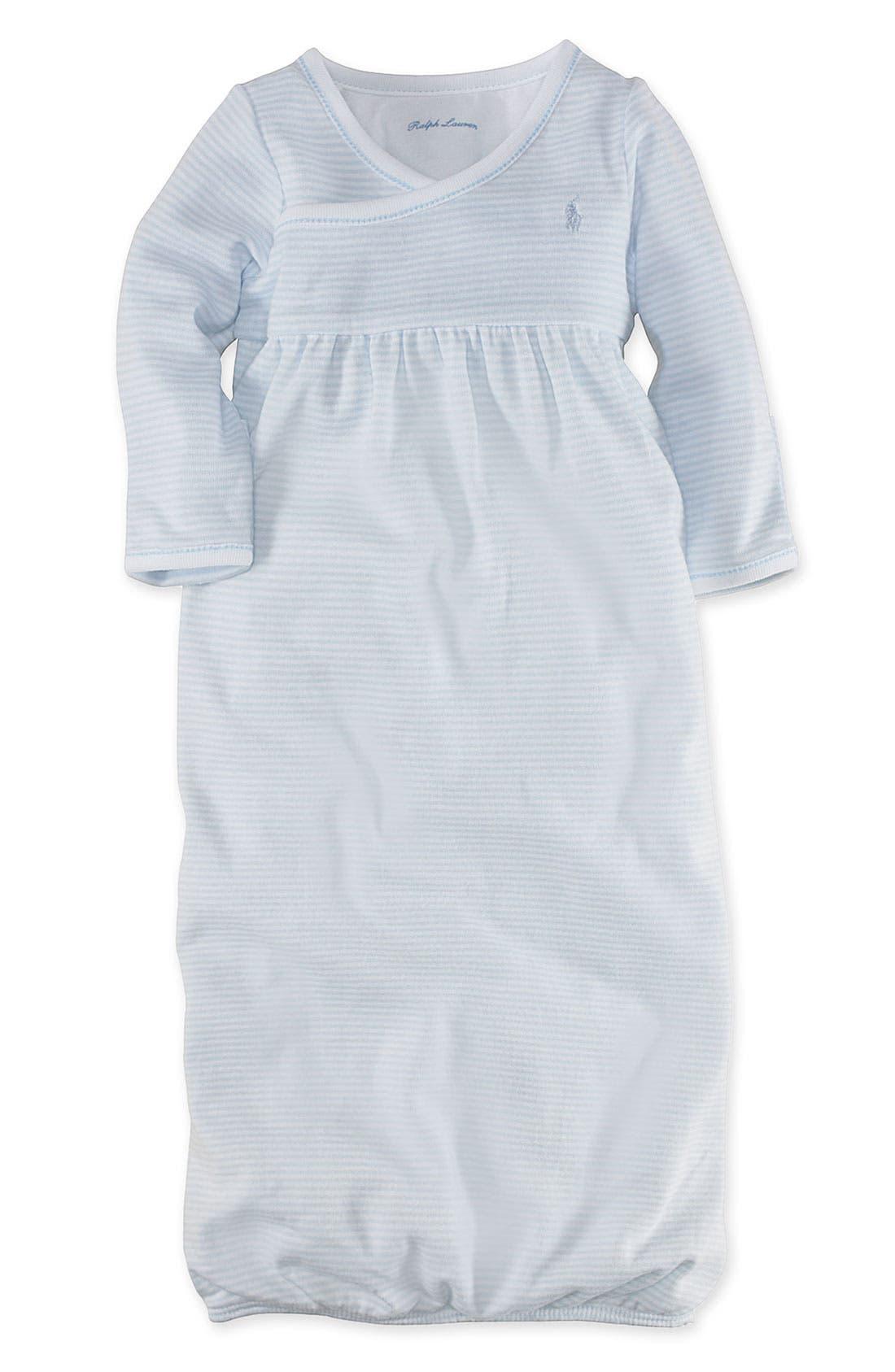 Alternate Image 1 Selected - Ralph Lauren Surplice Gown (Infant)