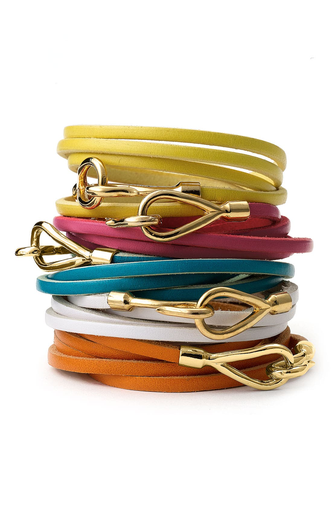 Main Image - Cara Couture Leather Wrap Bracelet