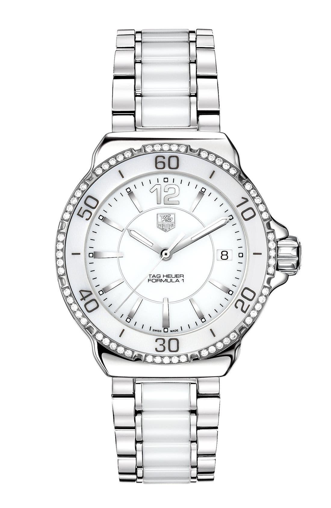 Main Image - TAG Heuer 'Formula 1' Ceramic Diamond Watch