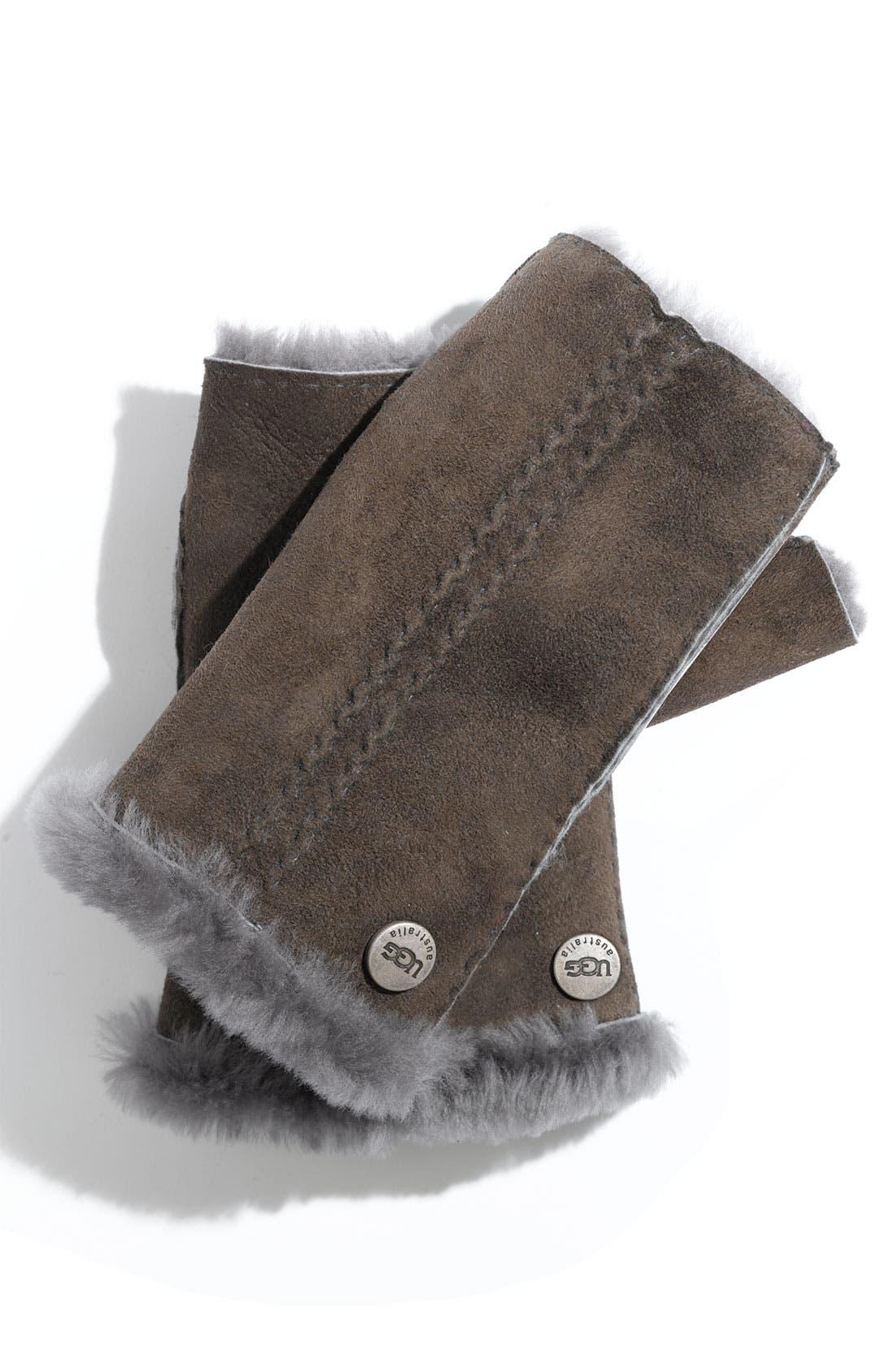 Alternate Image 1 Selected - UGG® Australia 'Classic' Shearling Fingerless Gloves
