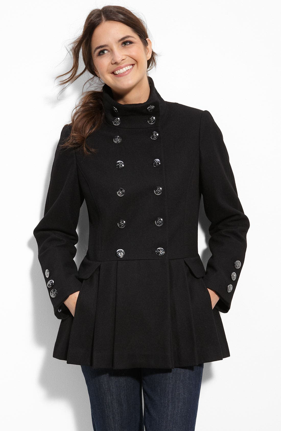 Alternate Image 1 Selected - Calvin Klein Military Inspired Wool Blend Coat