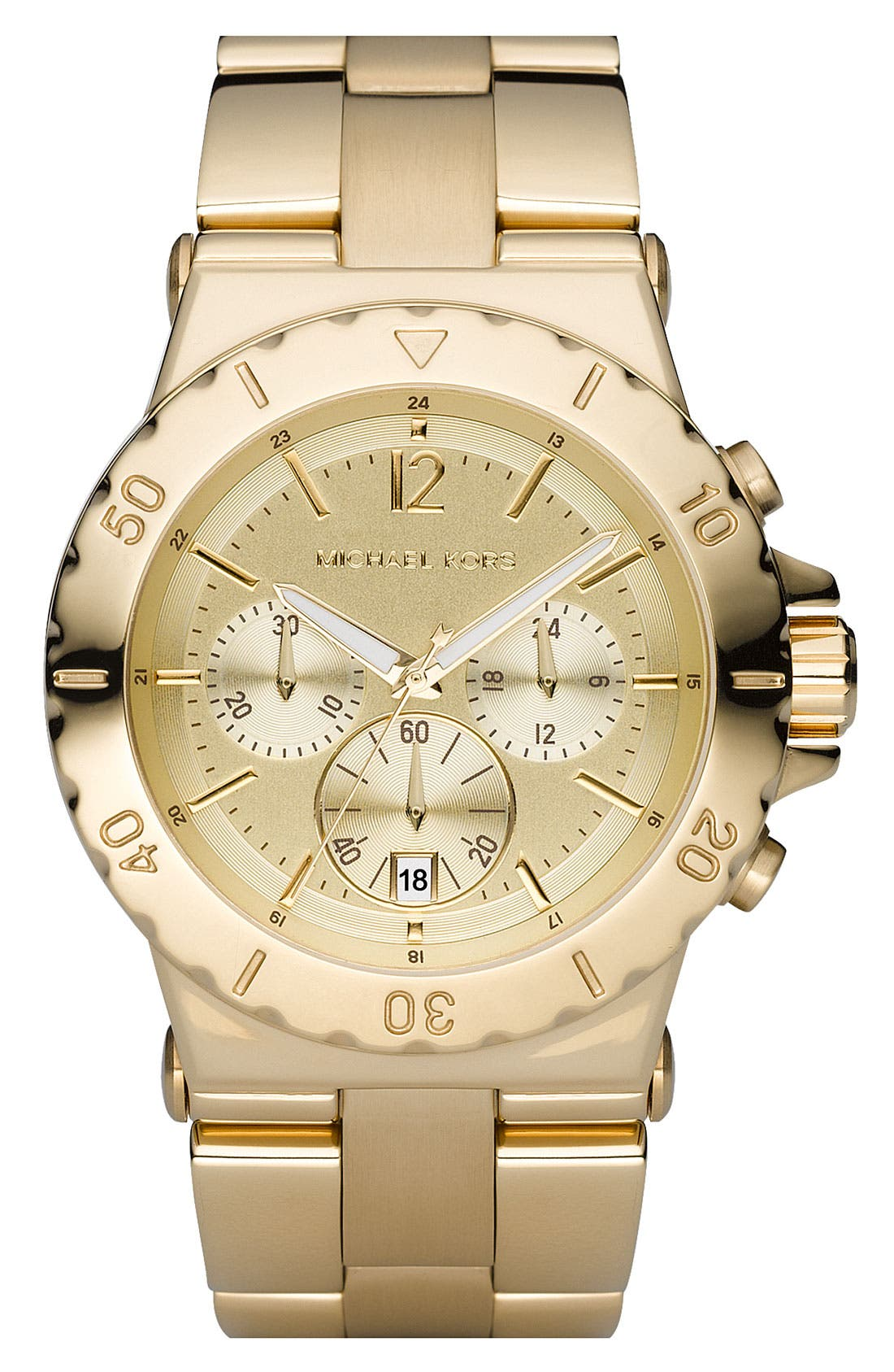 Alternate Image 1 Selected - Michael Kors Rose Gold Chronograph Watch, 42mm