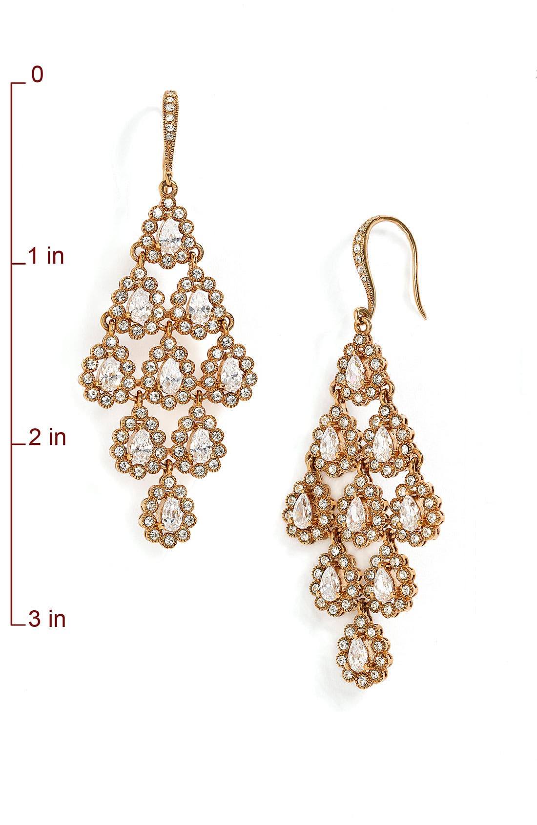 Tiered Chandelier Earrings,                             Alternate thumbnail 7, color,                             Rose Gold