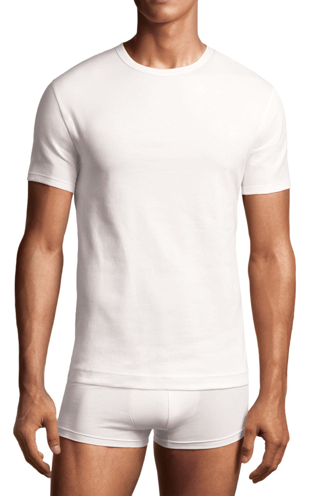 Alternate Image 1 Selected - Calvin Klein 'U2668' Stretch Cotton Crewneck T-Shirt (2-Pack)