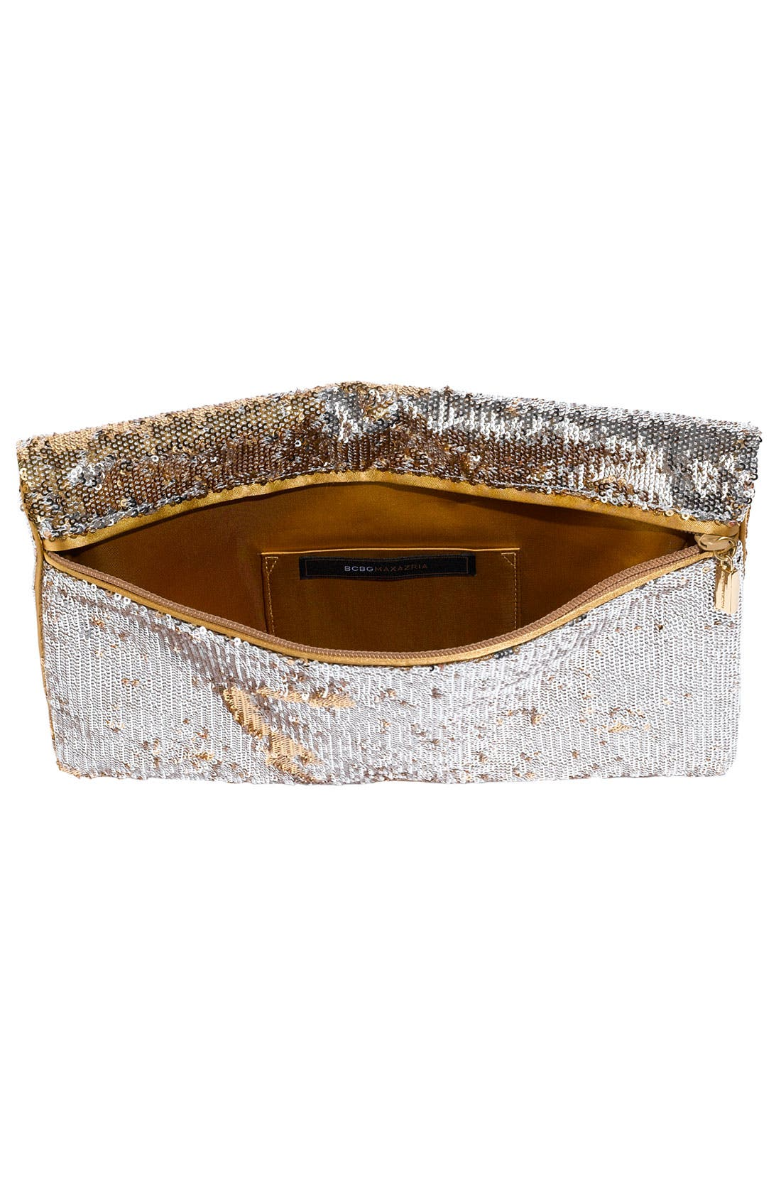Alternate Image 3  - BCBGMAXAZRIA Reversible Sequin Envelope Clutch