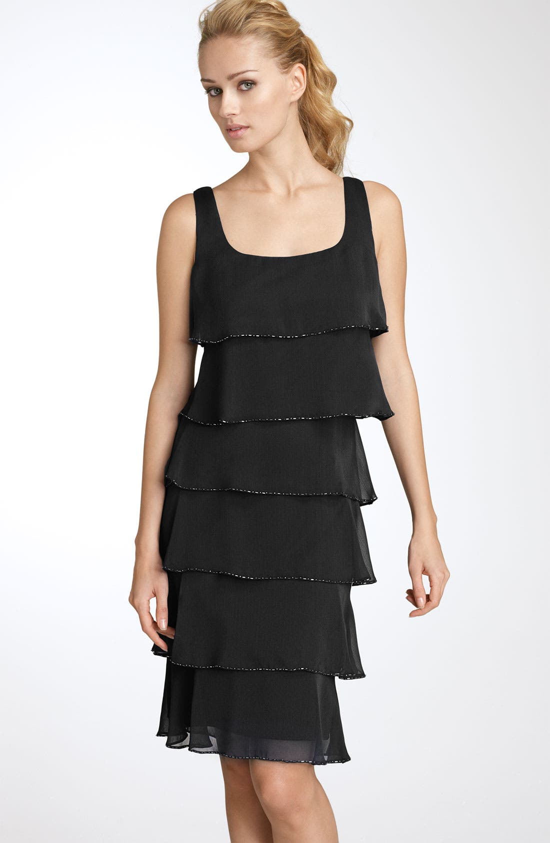Alternate Image 1 Selected - Patra Beaded Iridescent Chiffon Dress