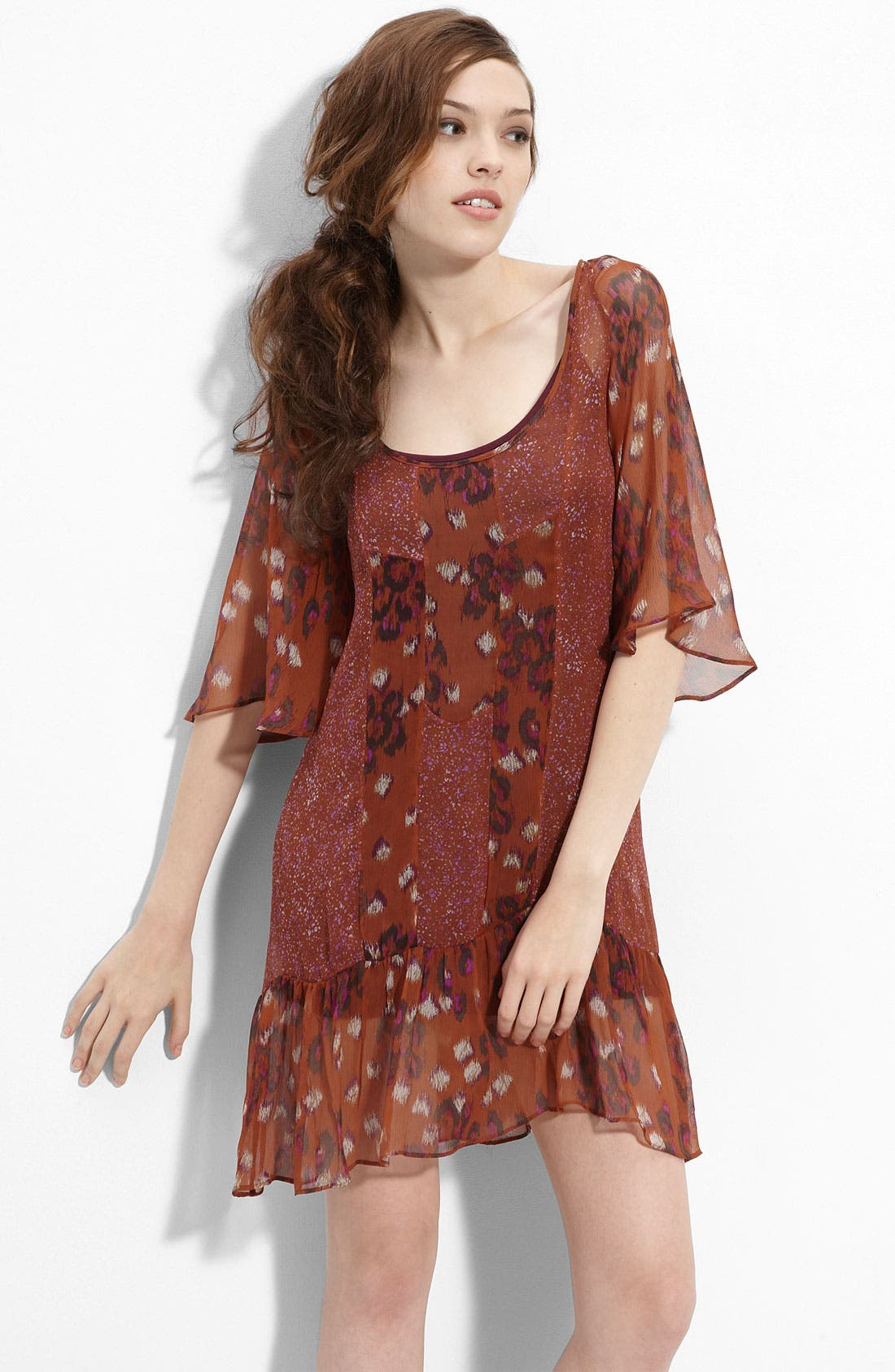 Alternate Image 1 Selected - Ella Moss 'Romany' Silk Dress