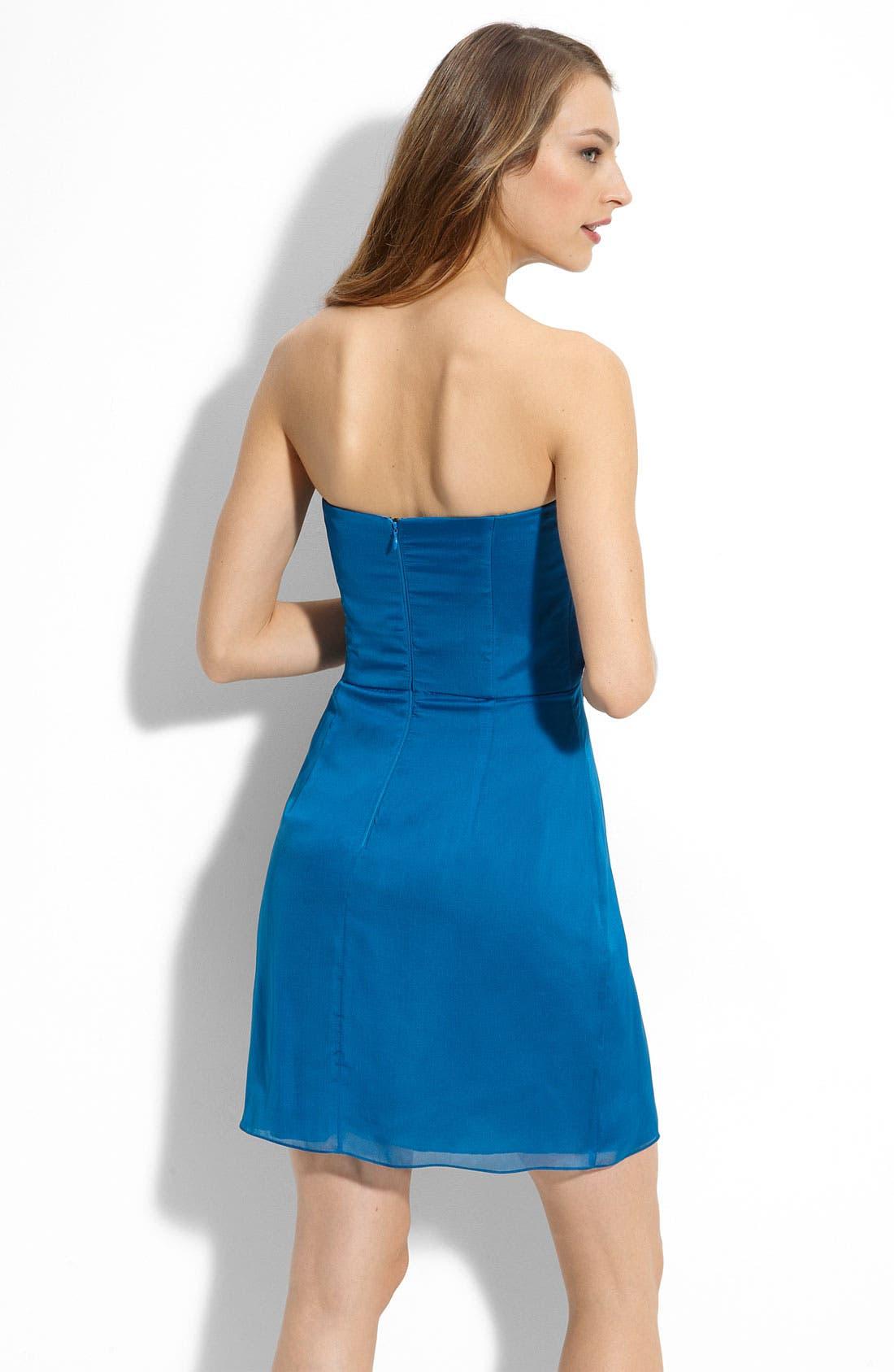 Alternate Image 2  - MBN Jewel Waist Strapless Chiffon Dress