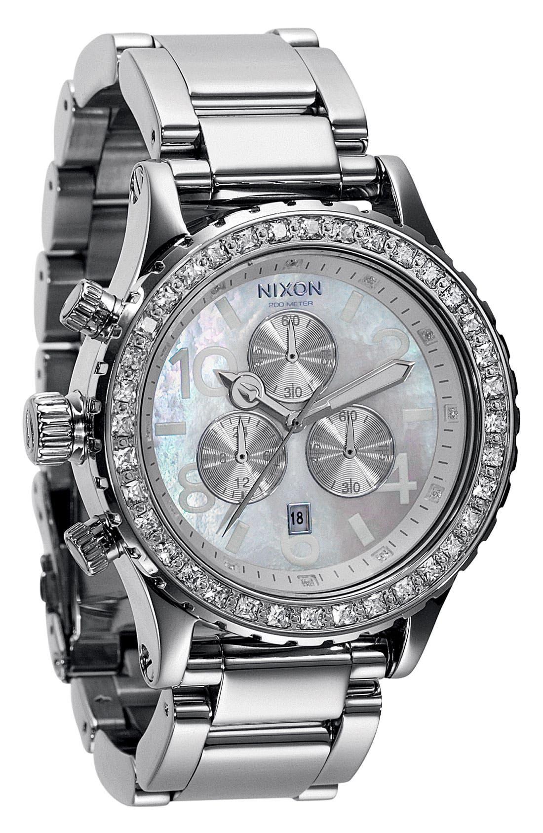 Main Image - Nixon 'The 42-20 Chrono' Crystal Bezel Watch, 42mm
