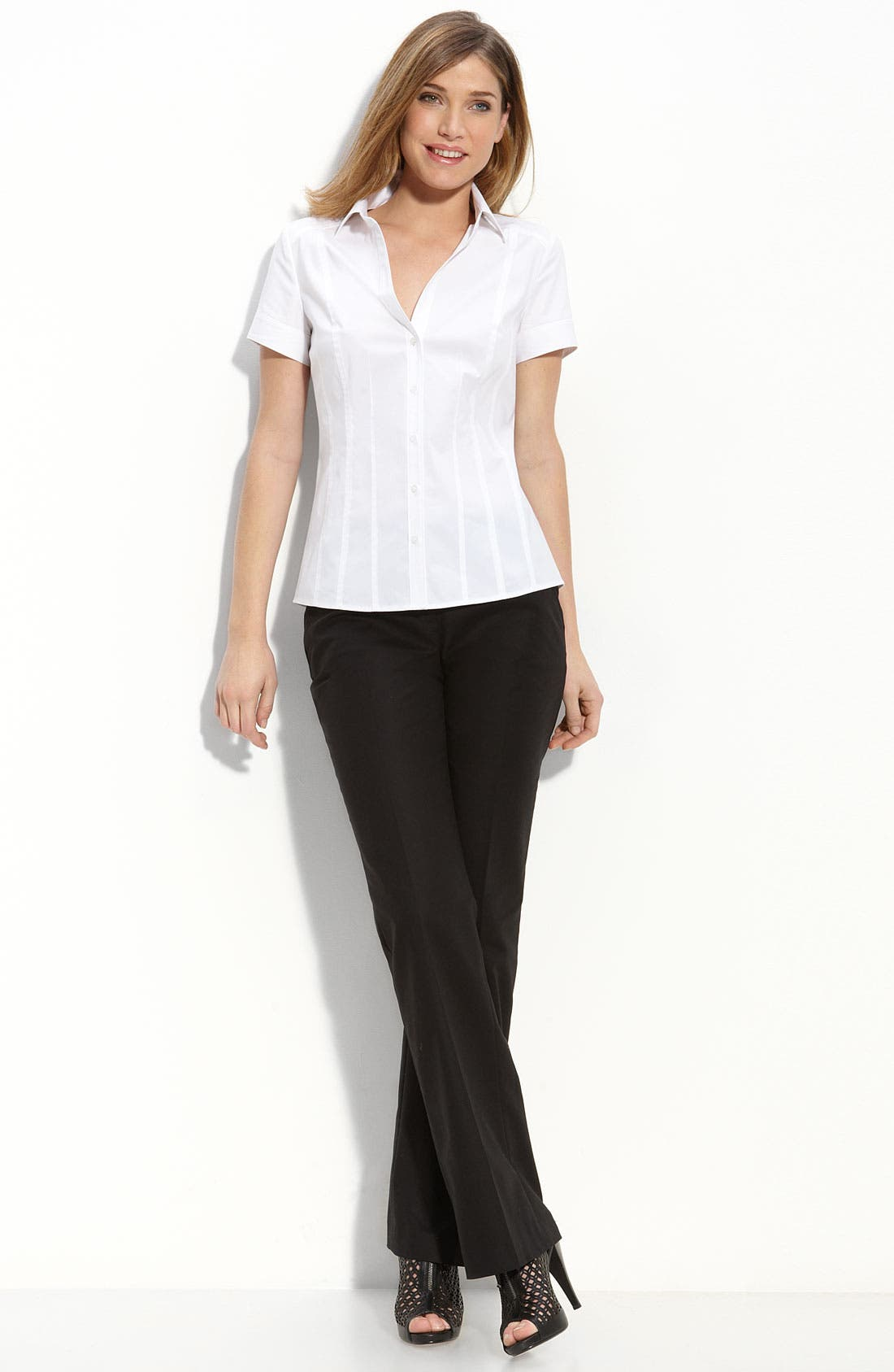 Alternate Image 2  - Halogen® Seamed Shirt