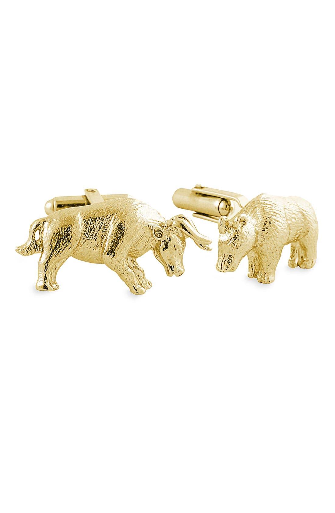 DAVID DONAHUE Bull & Bear Cuff Links