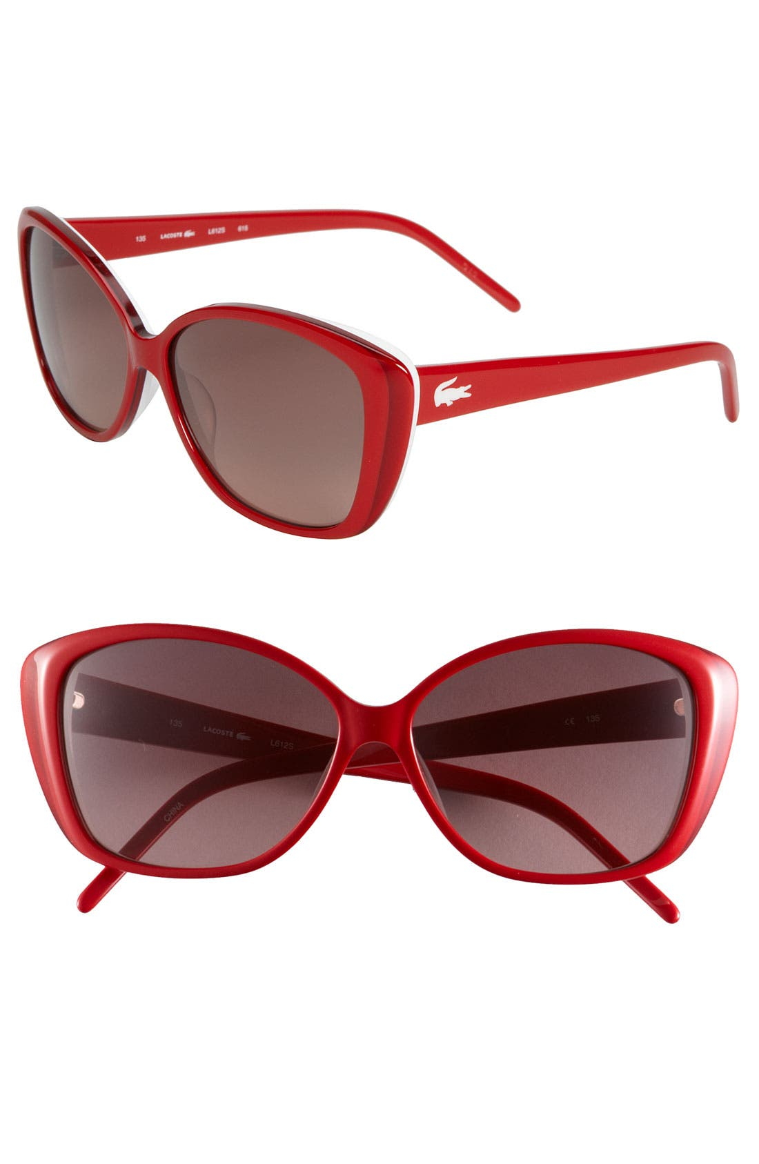 Alternate Image 1 Selected - Lacoste Eyewear Retro Stripe Cat's Eye Sunglasses