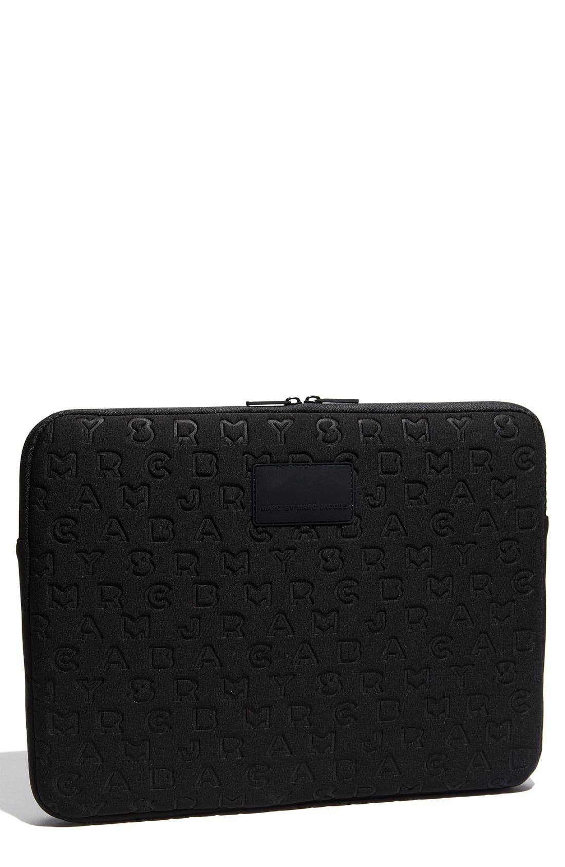 Alternate Image 1 Selected - MARC BY MARC JACOBS 'Jumble Logo' Laptop Sleeve (15 Inch)