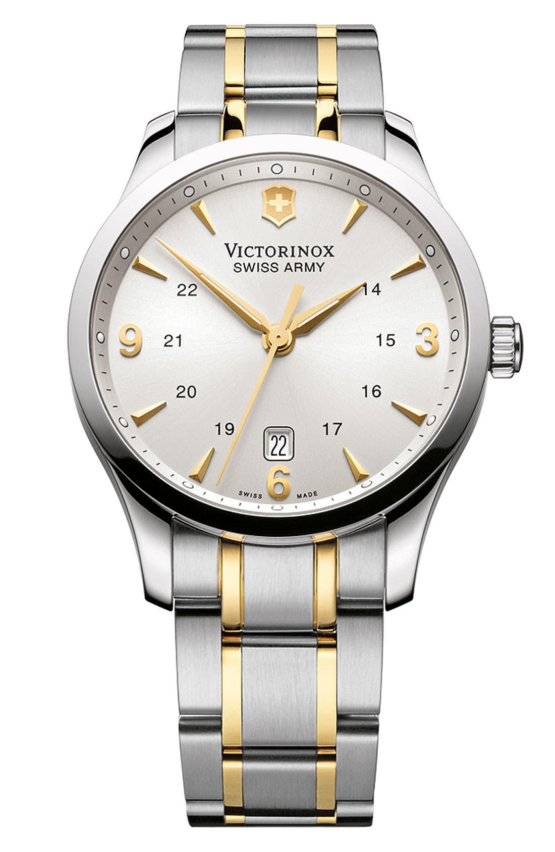 Alternate Image 1 Selected - Victorinox Swiss Army® 'Alliance' Large Bracelet Watch, 40mm