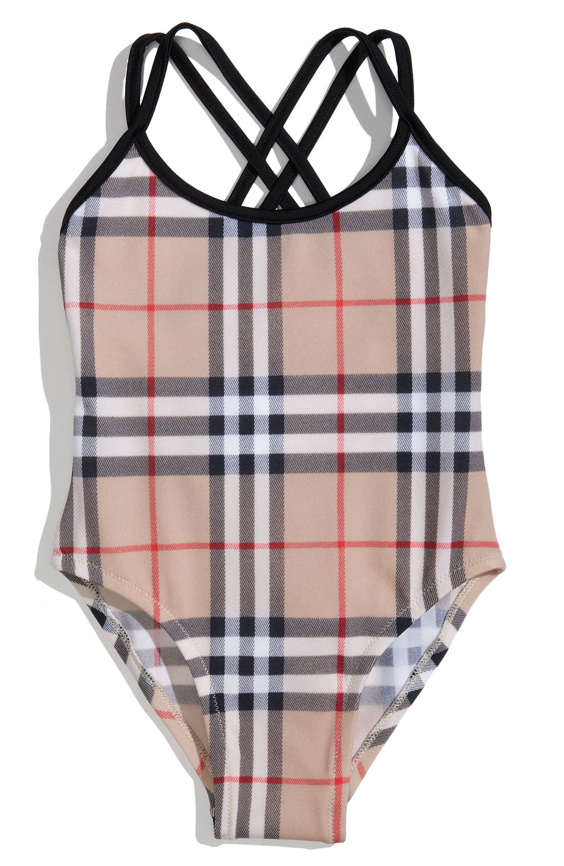 Main Image - Burberry One Piece Swimsuit (Toddler)