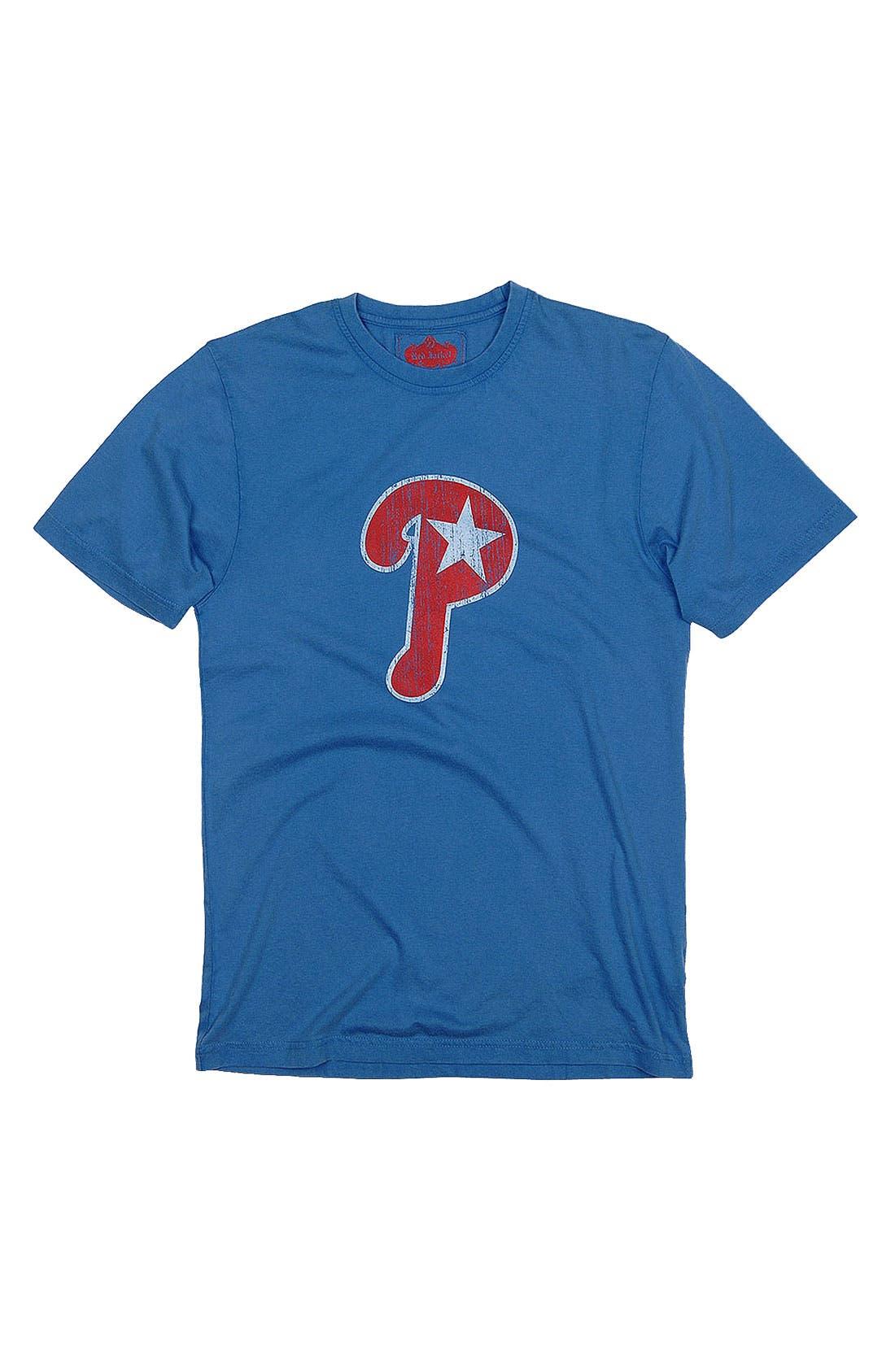 'Philadelphia Phillies' Trim Fit T-Shirt,                         Main,                         color, Royal Blue