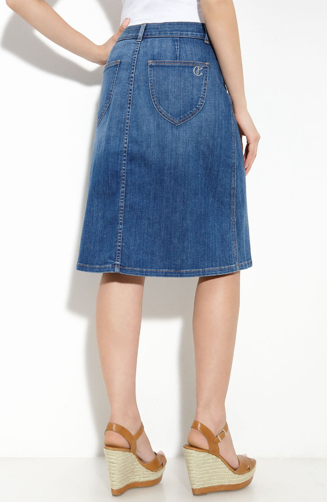 Alternate Image 2  - CJ by Cookie Johnson 'Unity' Skirt (New Vintage Blue Wash)