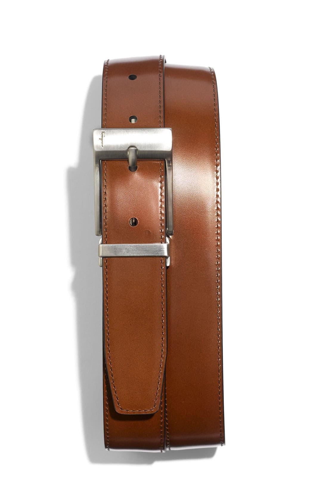 Alternate Image 2  - Salvatore Ferragamo Reversible Nickel Buckle Belt