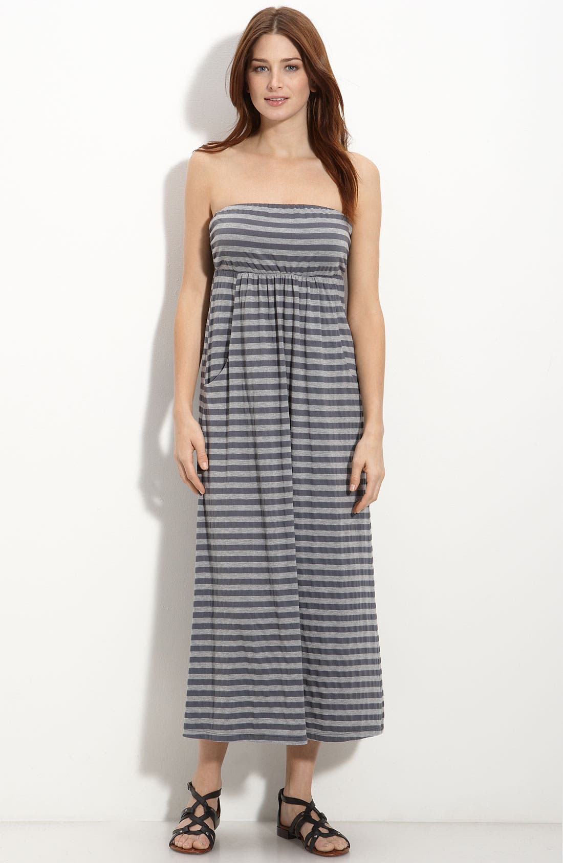 Alternate Image 1 Selected - Allen Allen Strapless Maxi Dress
