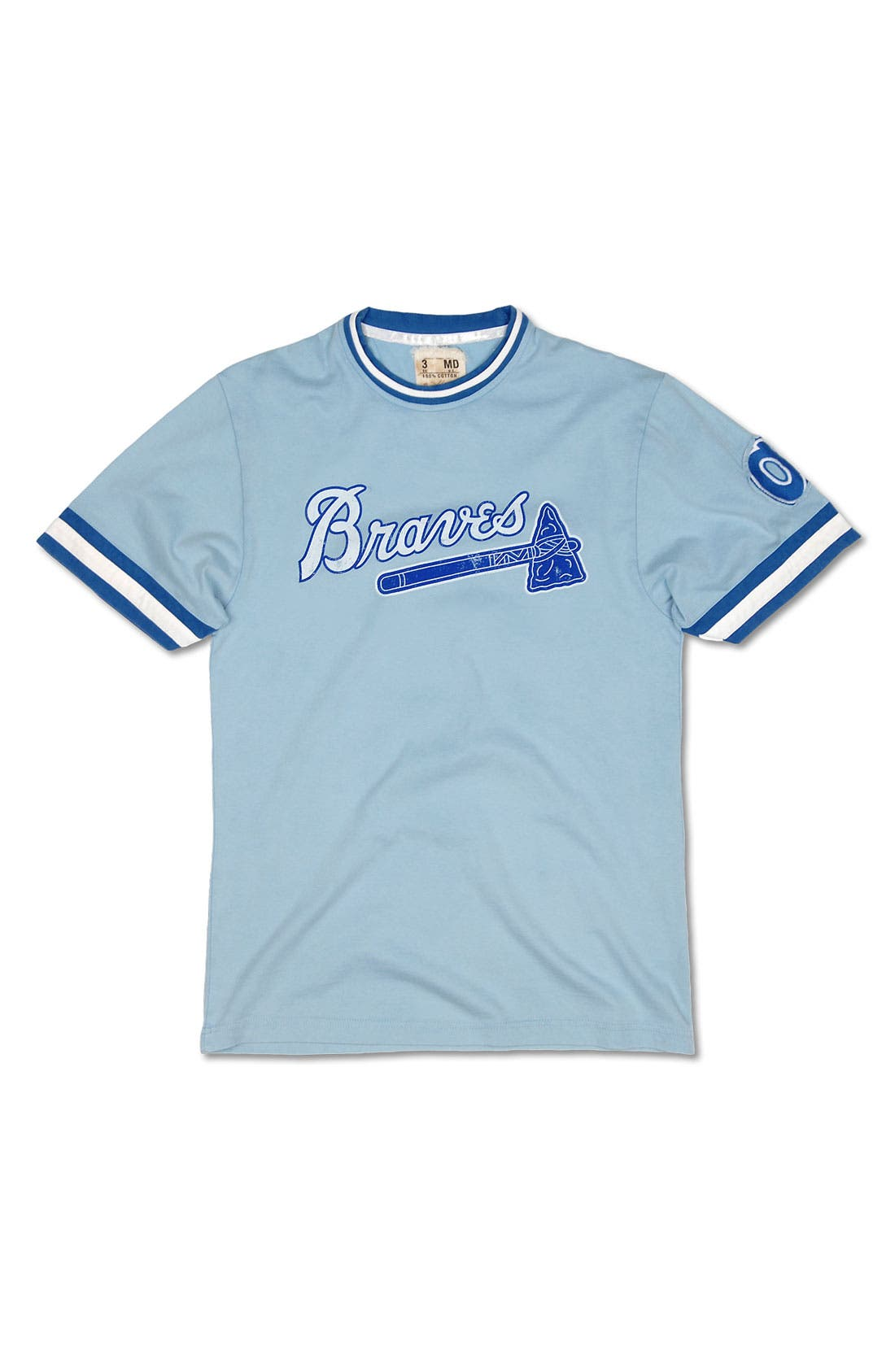 Alternate Image 1 Selected - Red Jacket 'Atlanta Braves' Trim Fit Ringer T-Shirt (Men)