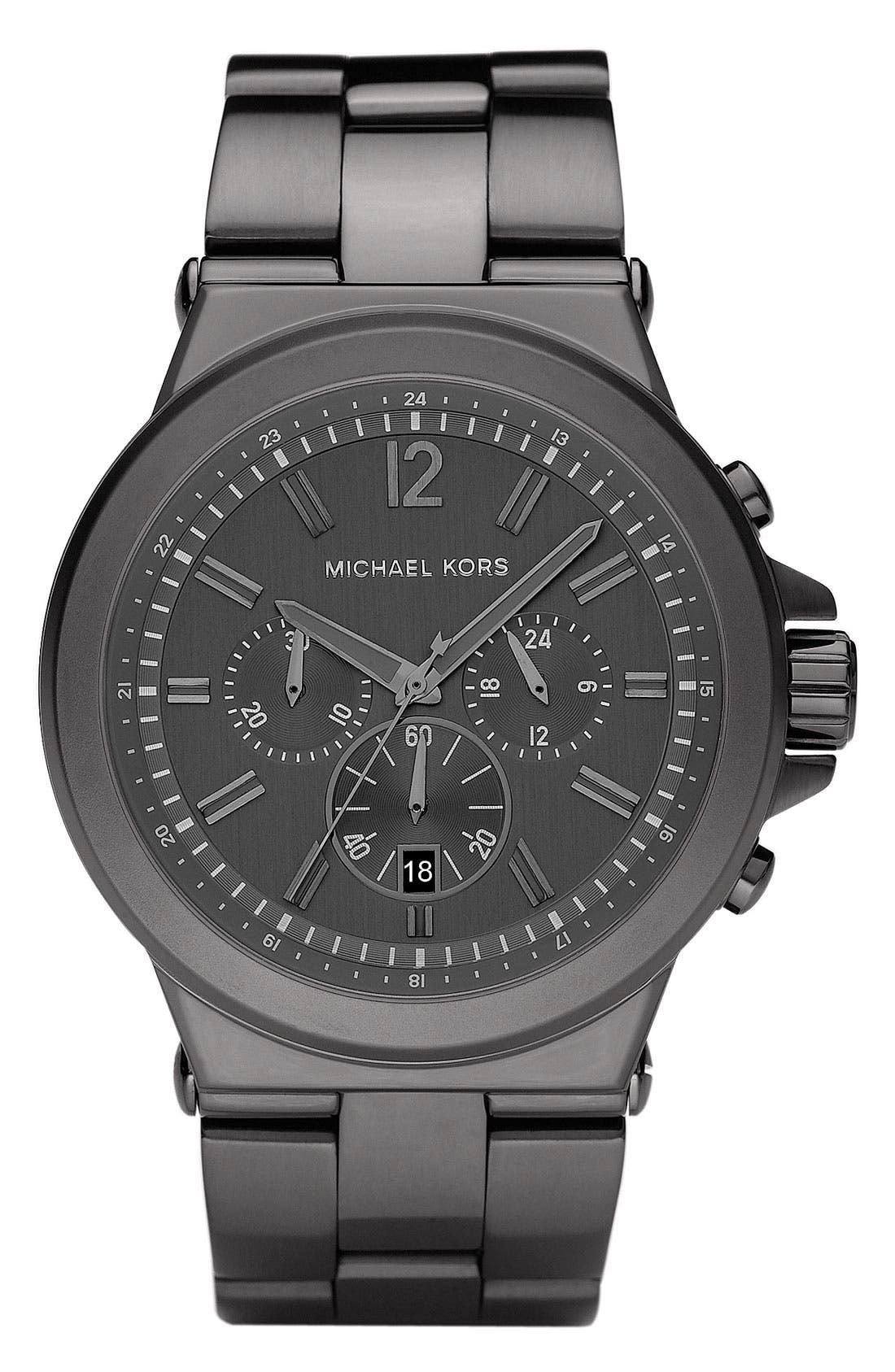 Alternate Image 1 Selected - Michael Kors Large Chronograph Bracelet Watch, 45mm
