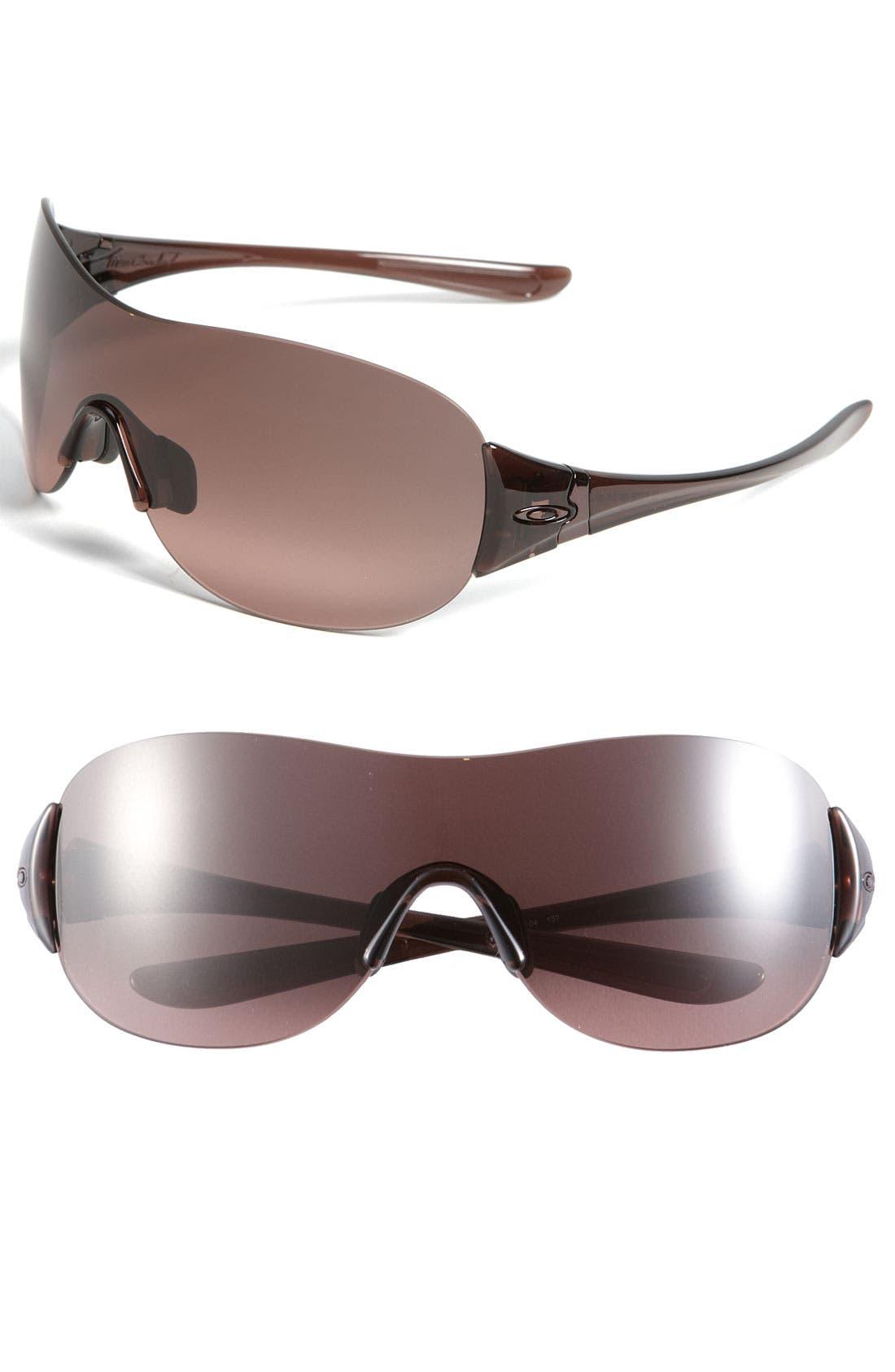 Main Image - Oakley 'Miss Conduct™' Rimless Shield Sunglasses
