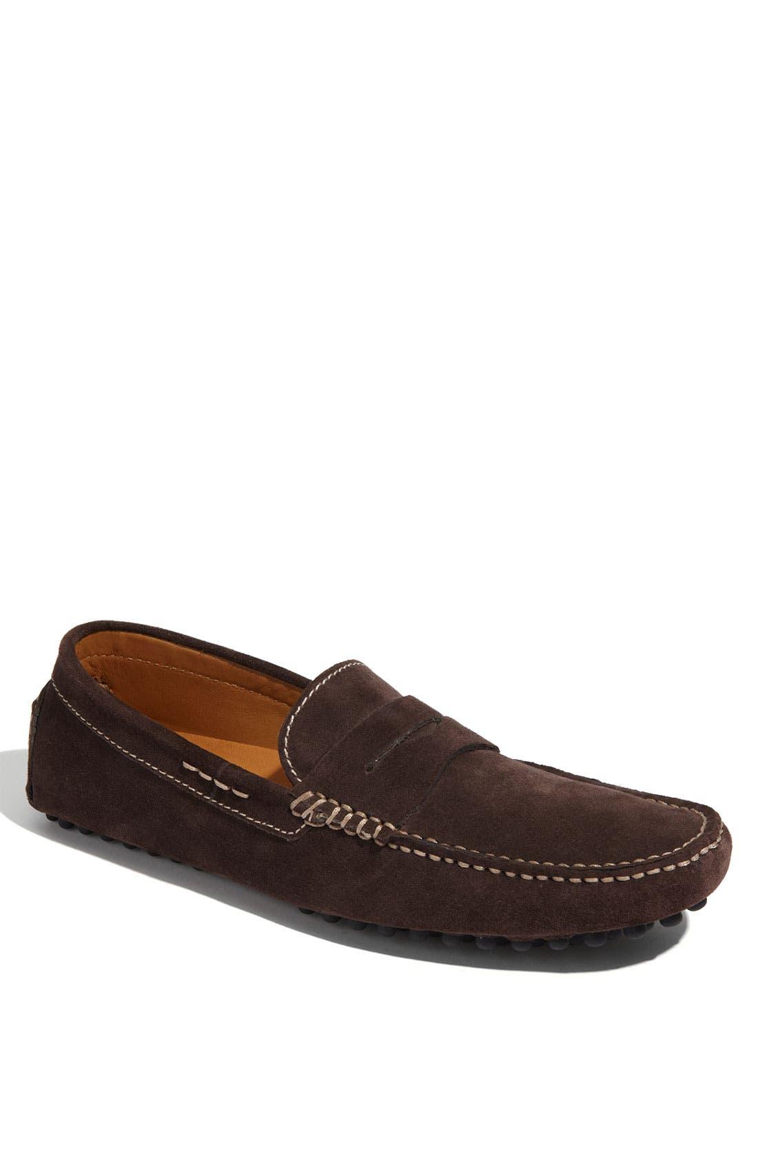 'Tobago' Driving Shoe,                             Main thumbnail 1, color,                             Brown