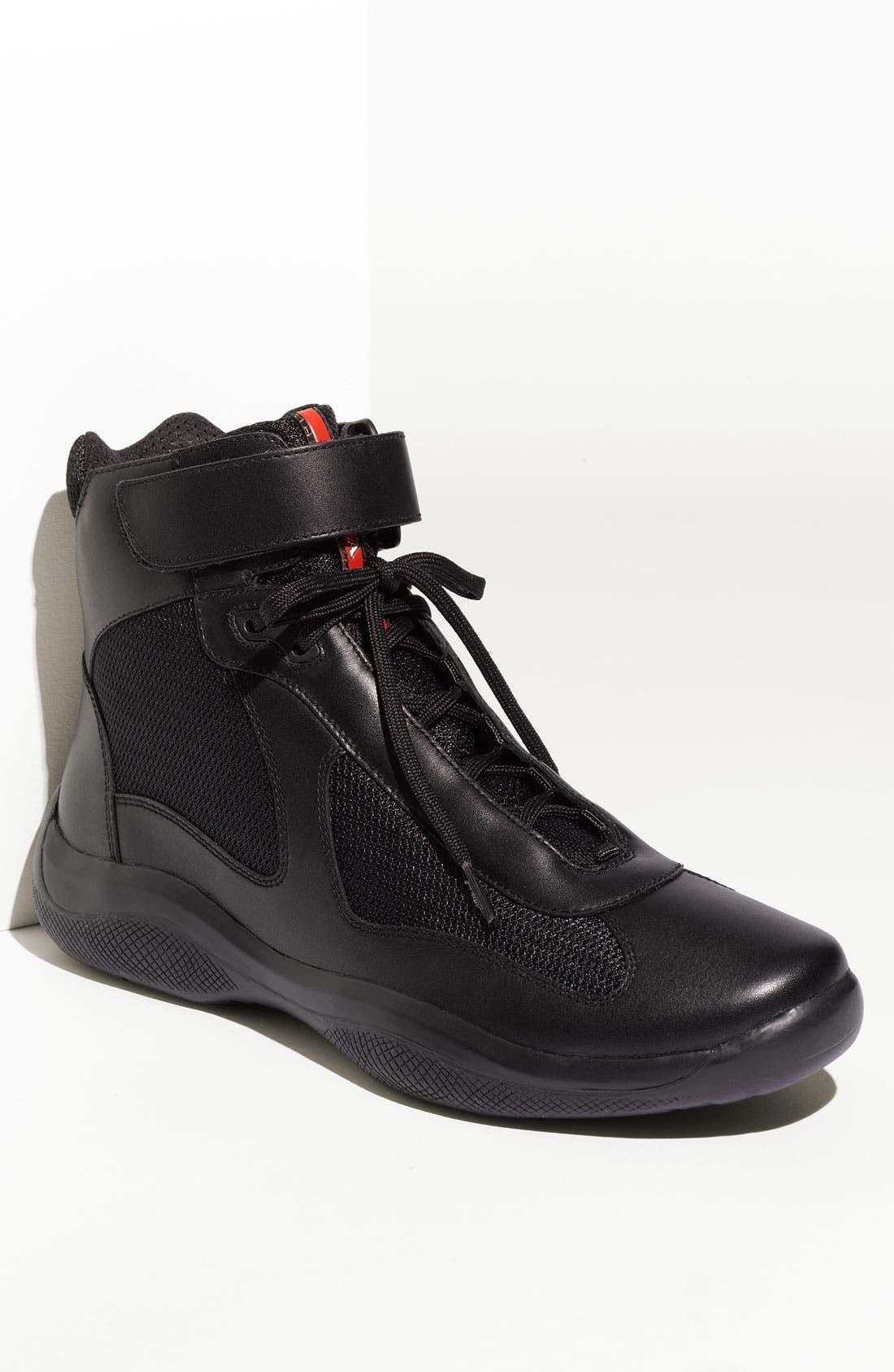 Main Image - Prada 'America's Cup' High Top Sneaker (Men)