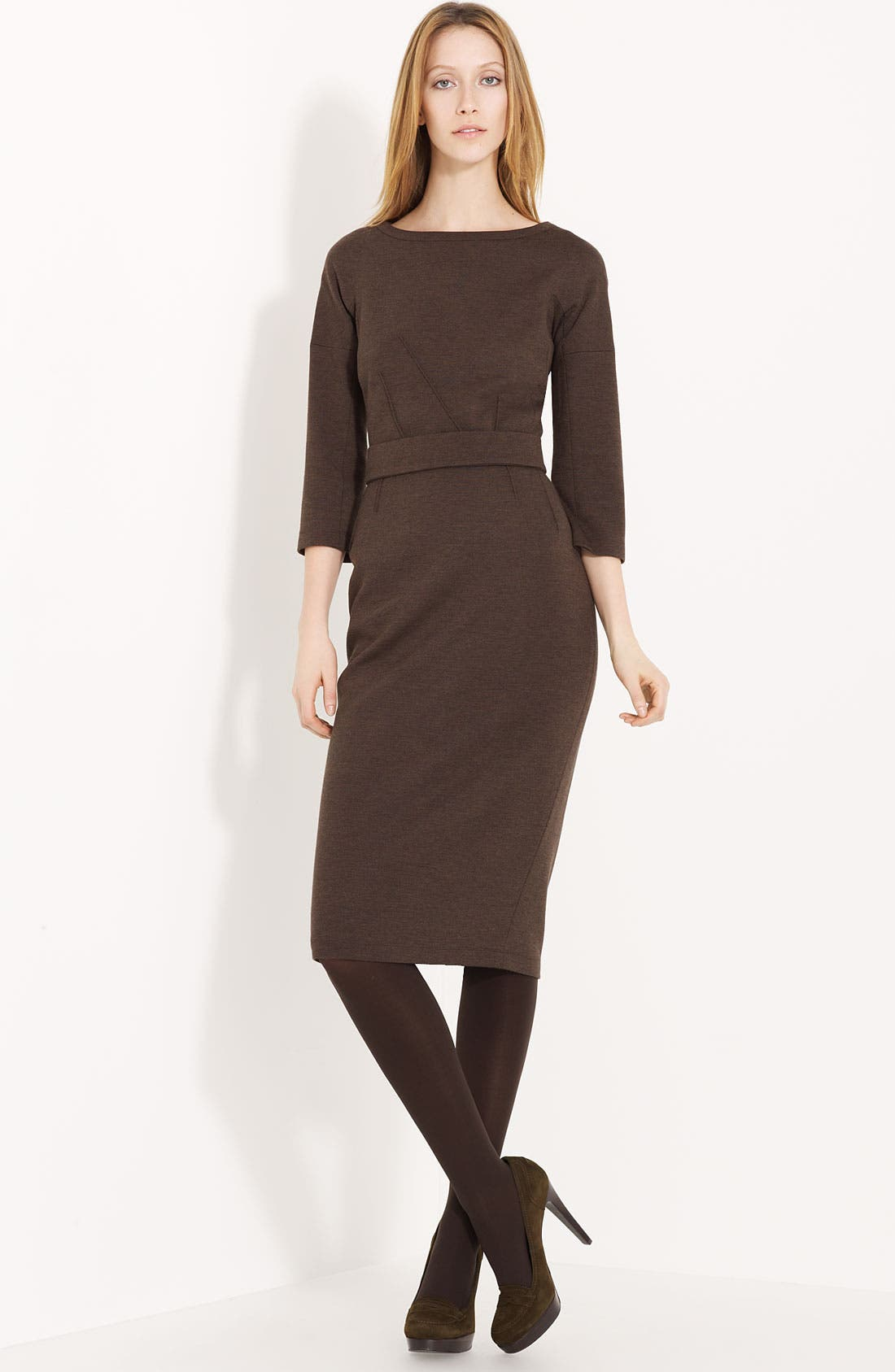 Alternate Image 1 Selected - Lida Baday Plaid Jersey Dress