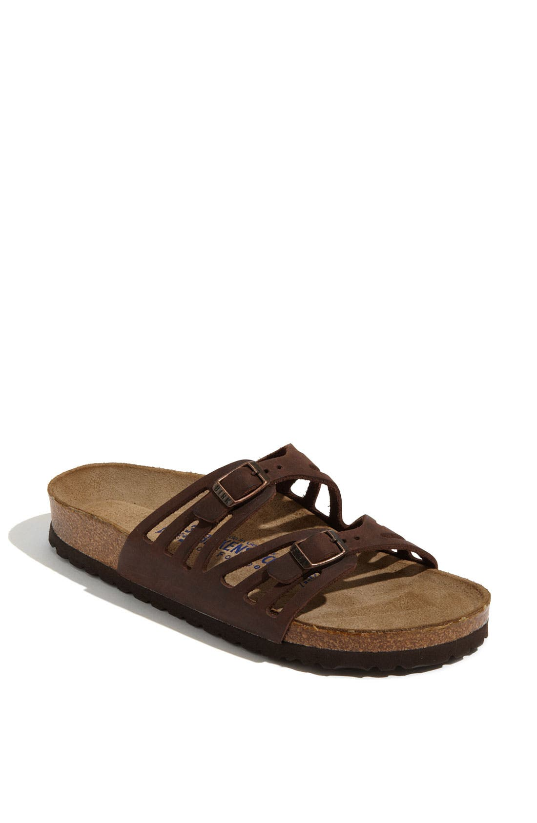 Alternate Image 1 Selected - Birkenstock Granada Soft Footbed Oiled Leather Sandal (Women)