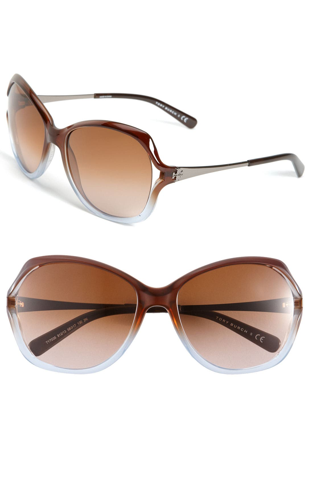 Alternate Image 1 Selected - Tory Burch 59mm Open Lens Butterfly Sunglasses (Online Only)