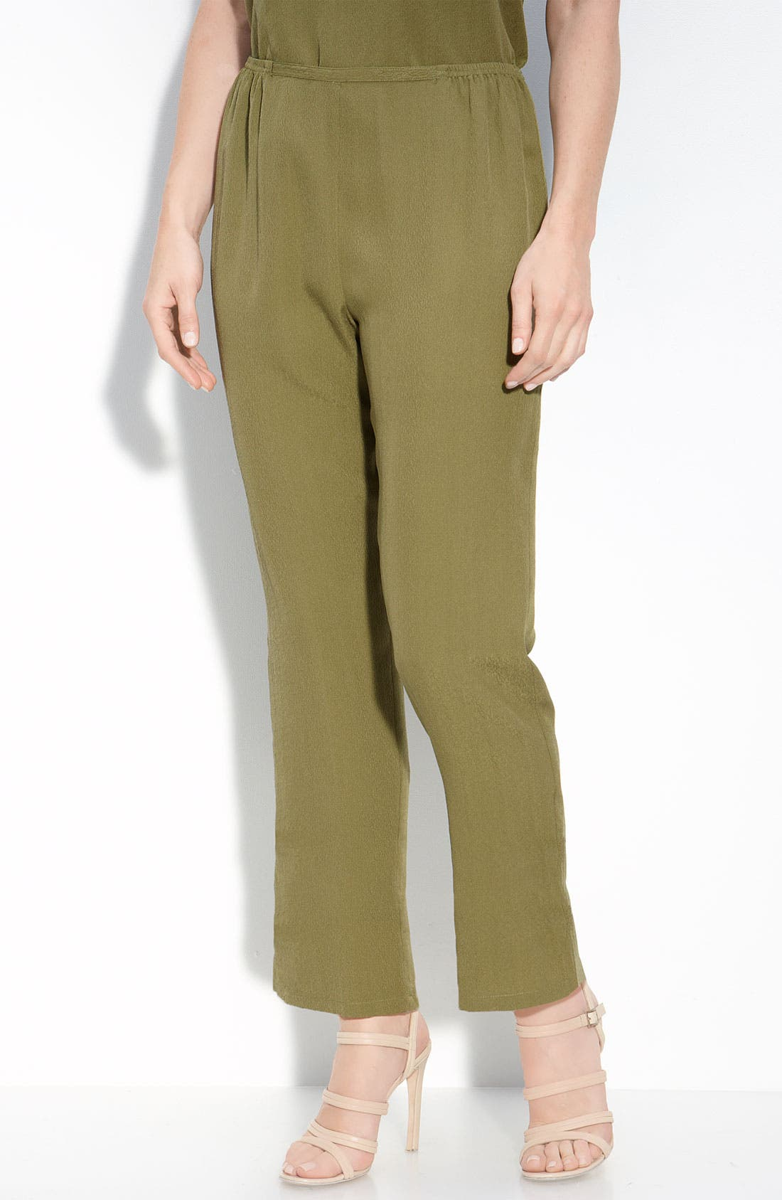 Alternate Image 1 Selected - Citron Silk Pants (Petite)