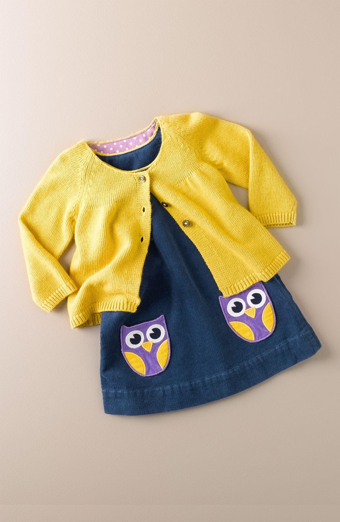 Alternate Image 2  - Mini Boden Babydoll Cardigan (Infant)