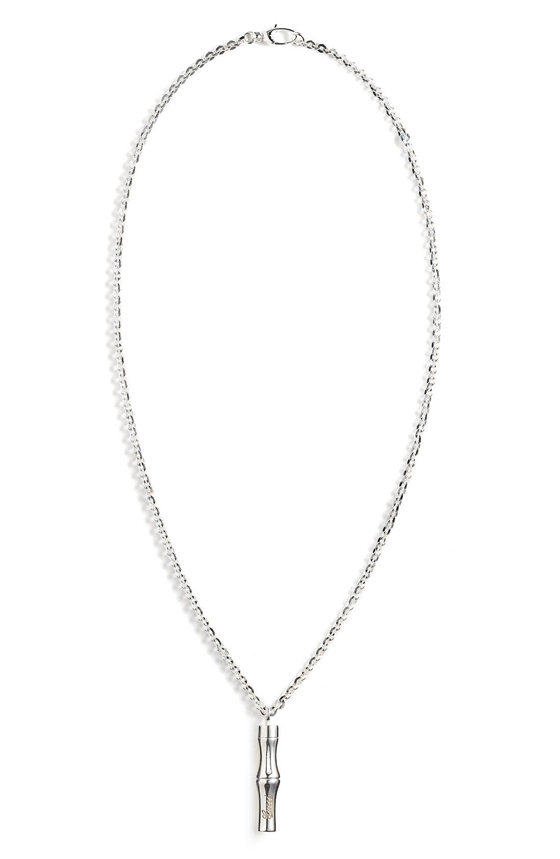Alternate Image 1 Selected - Gucci Bamboo Sterling Silver Necklace