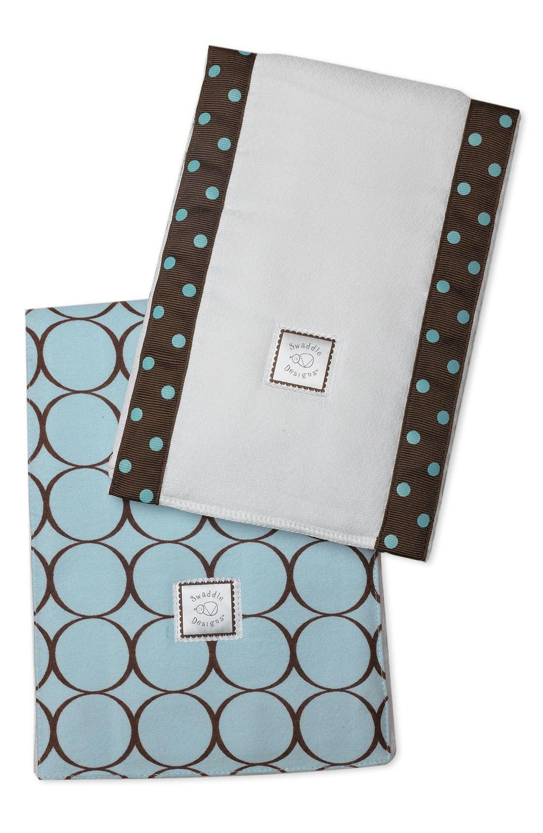 Alternate Image 1 Selected - Swaddle Designs Burp Cloth Set