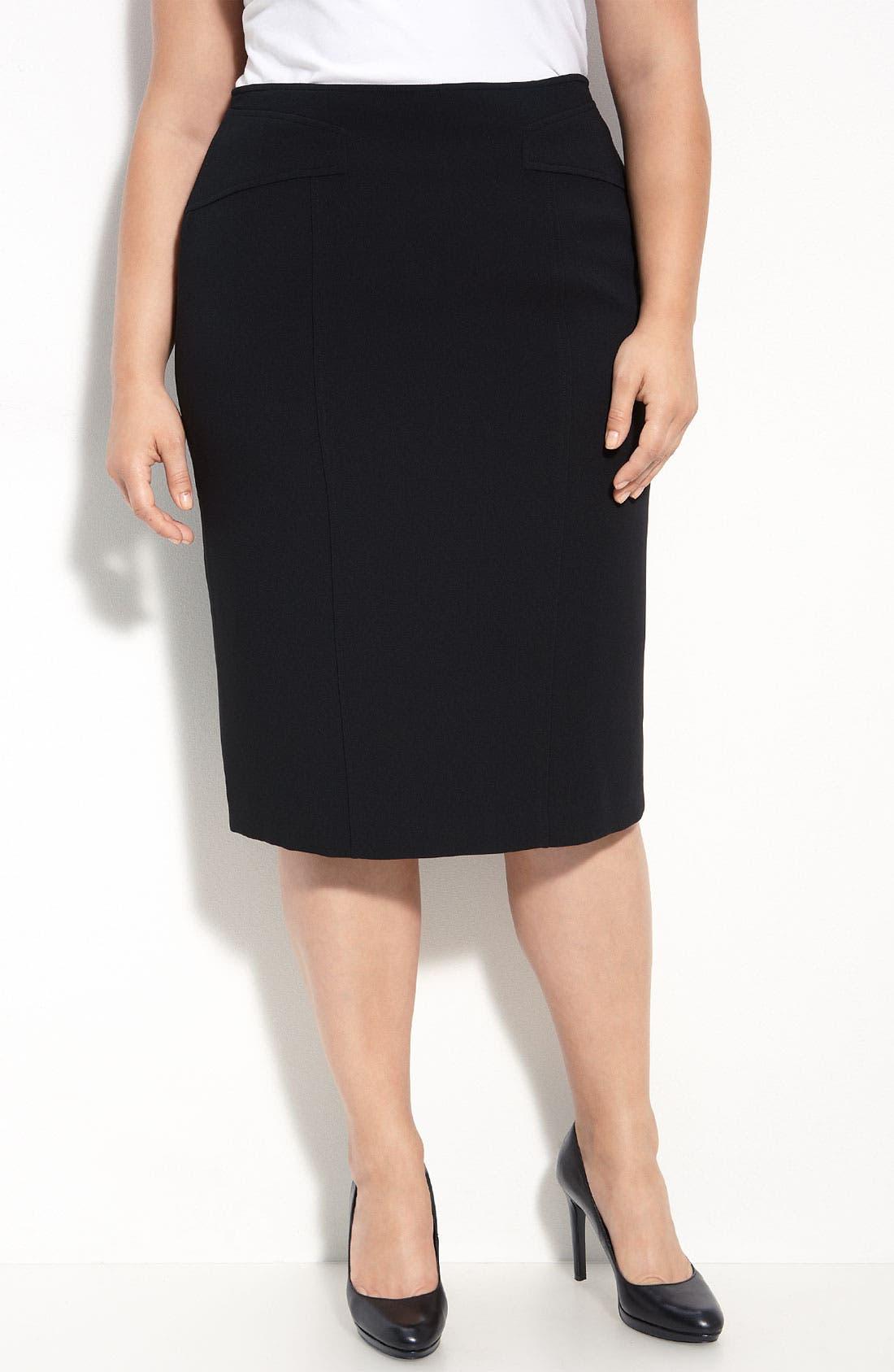 Main Image - Louben Pencil Skirt (Plus Size)