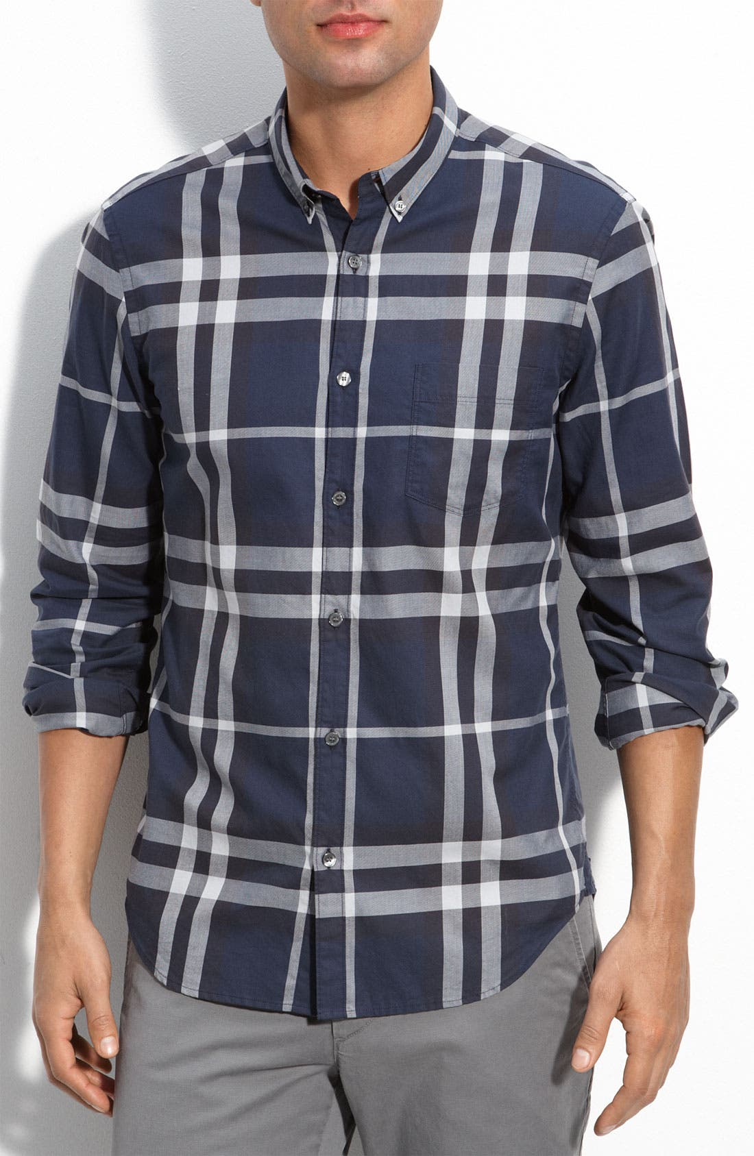 Alternate Image 1 Selected - Burberry Brit 'Niall' Extra Trim Check Sport Shirt