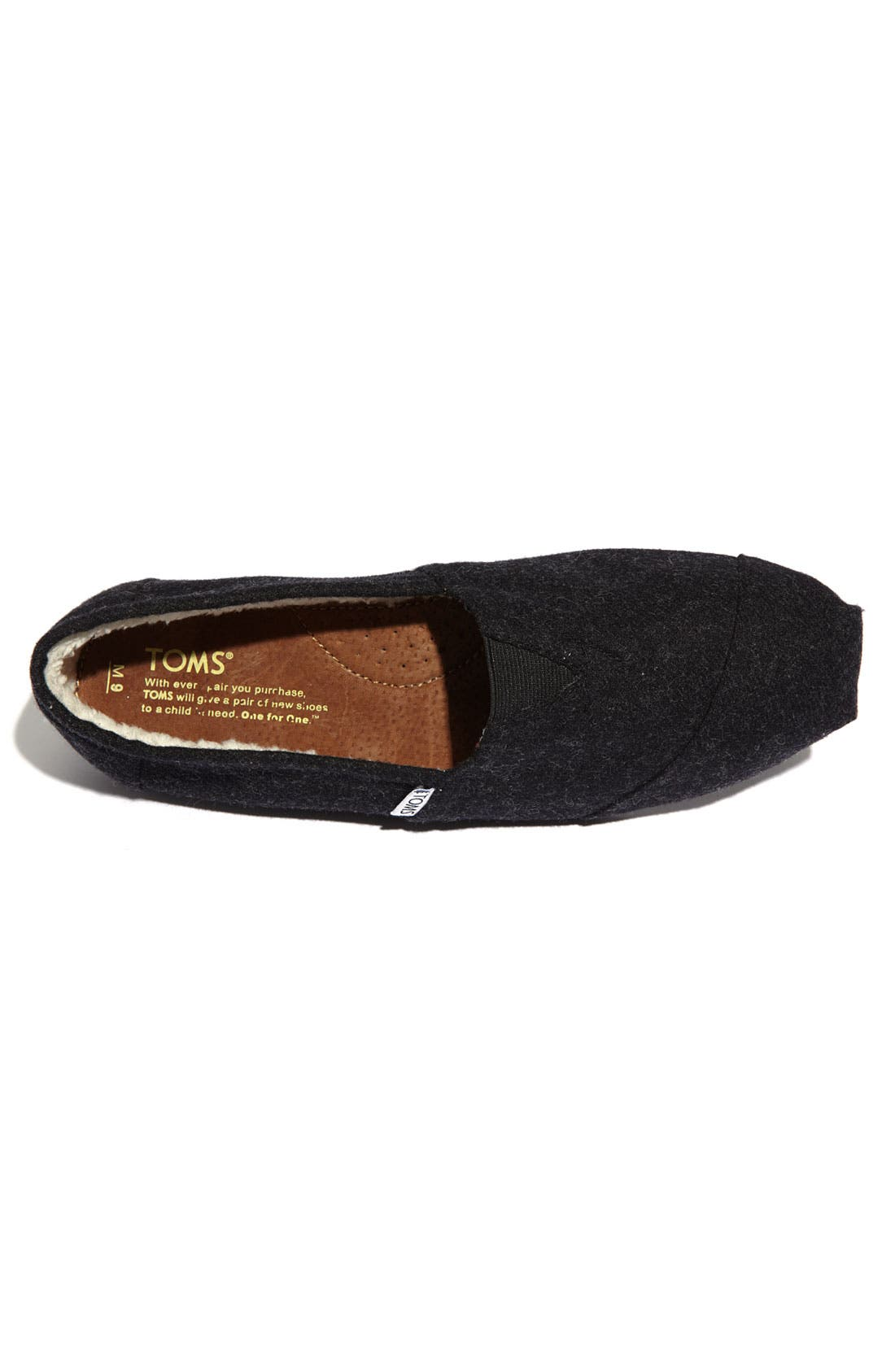 Alternate Image 3  - TOMS 'Classic' Woolen Slip-On (Men)