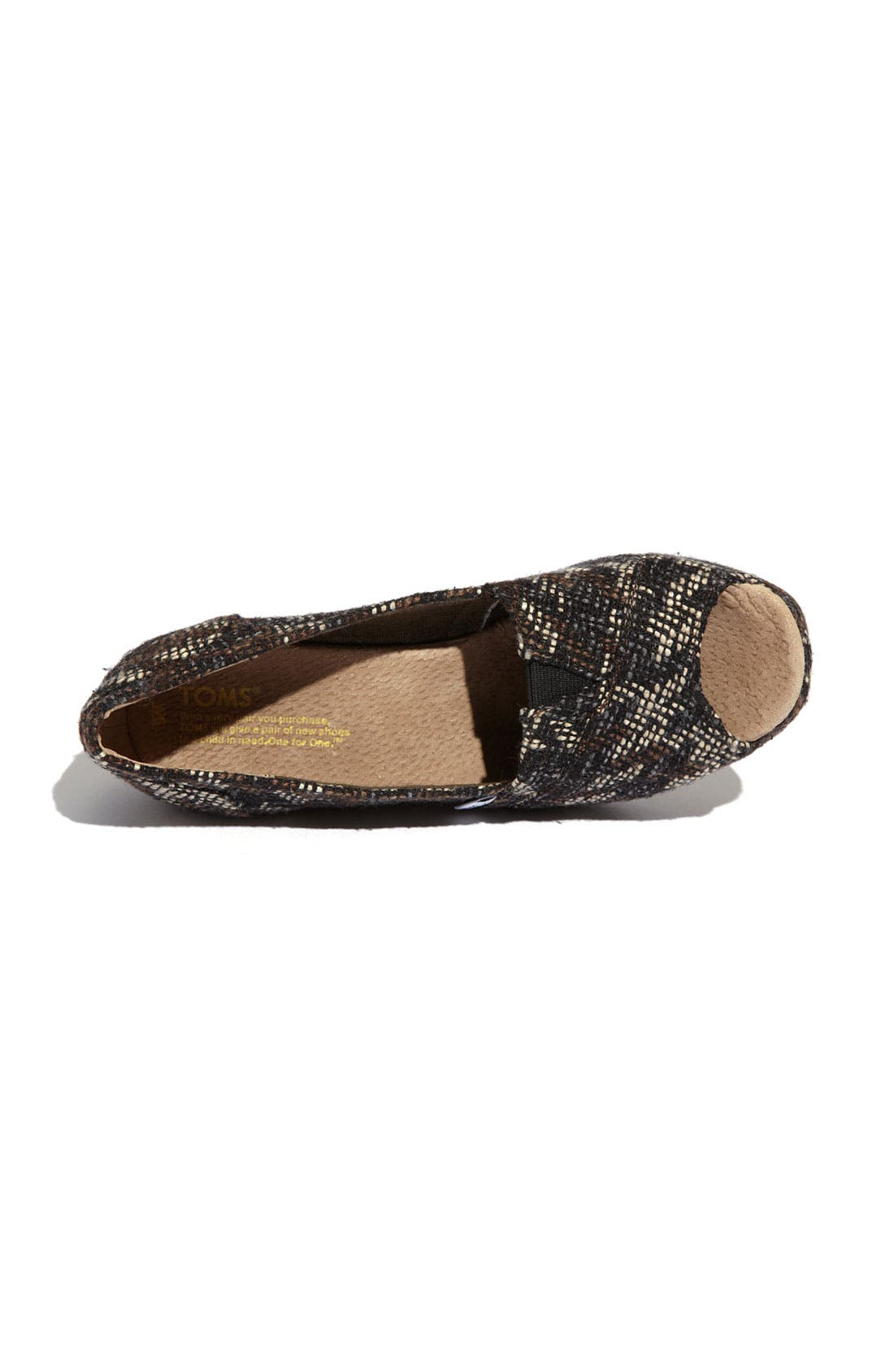 Alternate Image 3  - TOMS Fabric Wedge (Women)