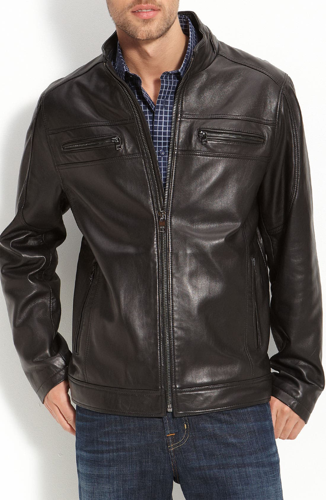 Main Image - Marc New York 'Jackson' Leather Jacket