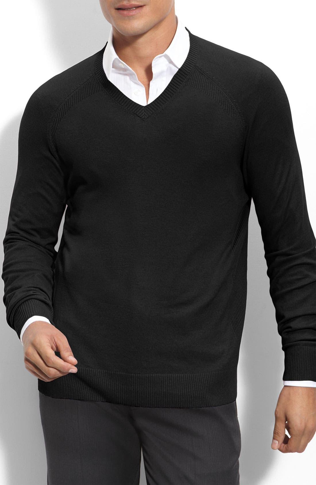 Main Image - Calibrate Trim Fit Cotton Blend V-Neck Sweater