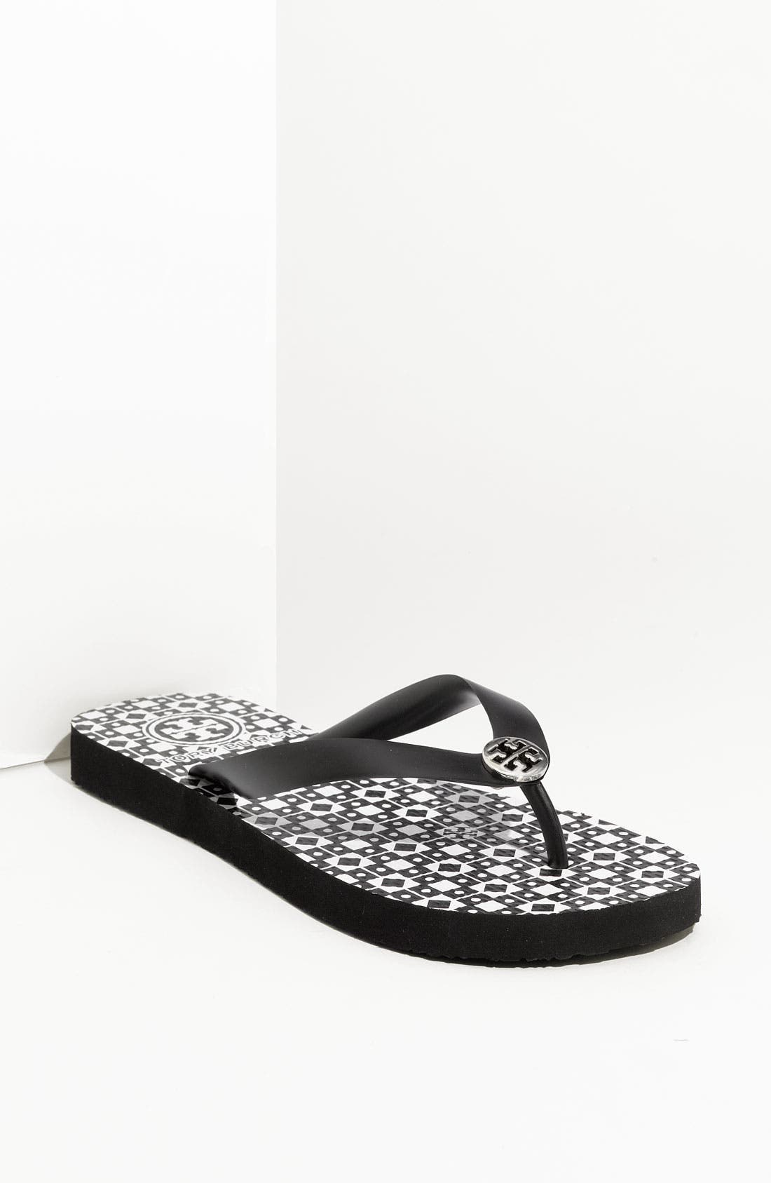 Alternate Image 1 Selected - Tory Burch Enamel Logo Flip Flop